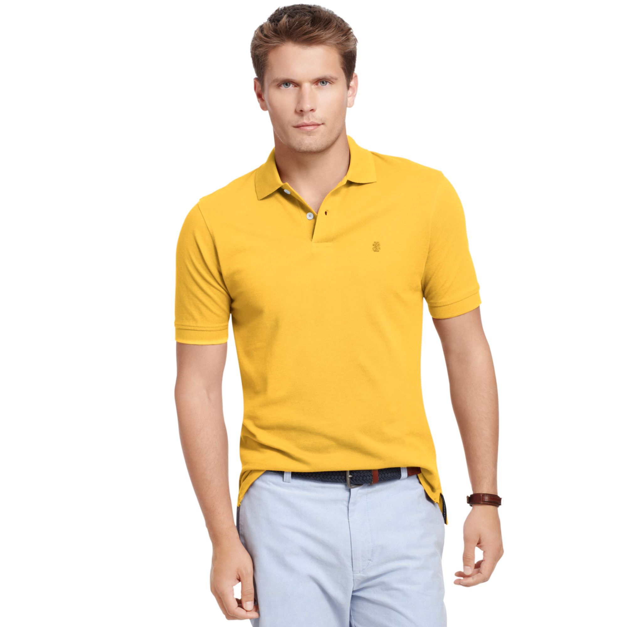 Izod Big And Tall Short Sleeve Solid Pique Polo Shirt In