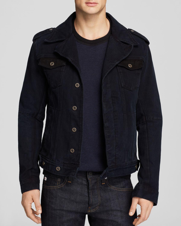 scotch soda black denim flight jacket casual jackets product 1. Black Bedroom Furniture Sets. Home Design Ideas