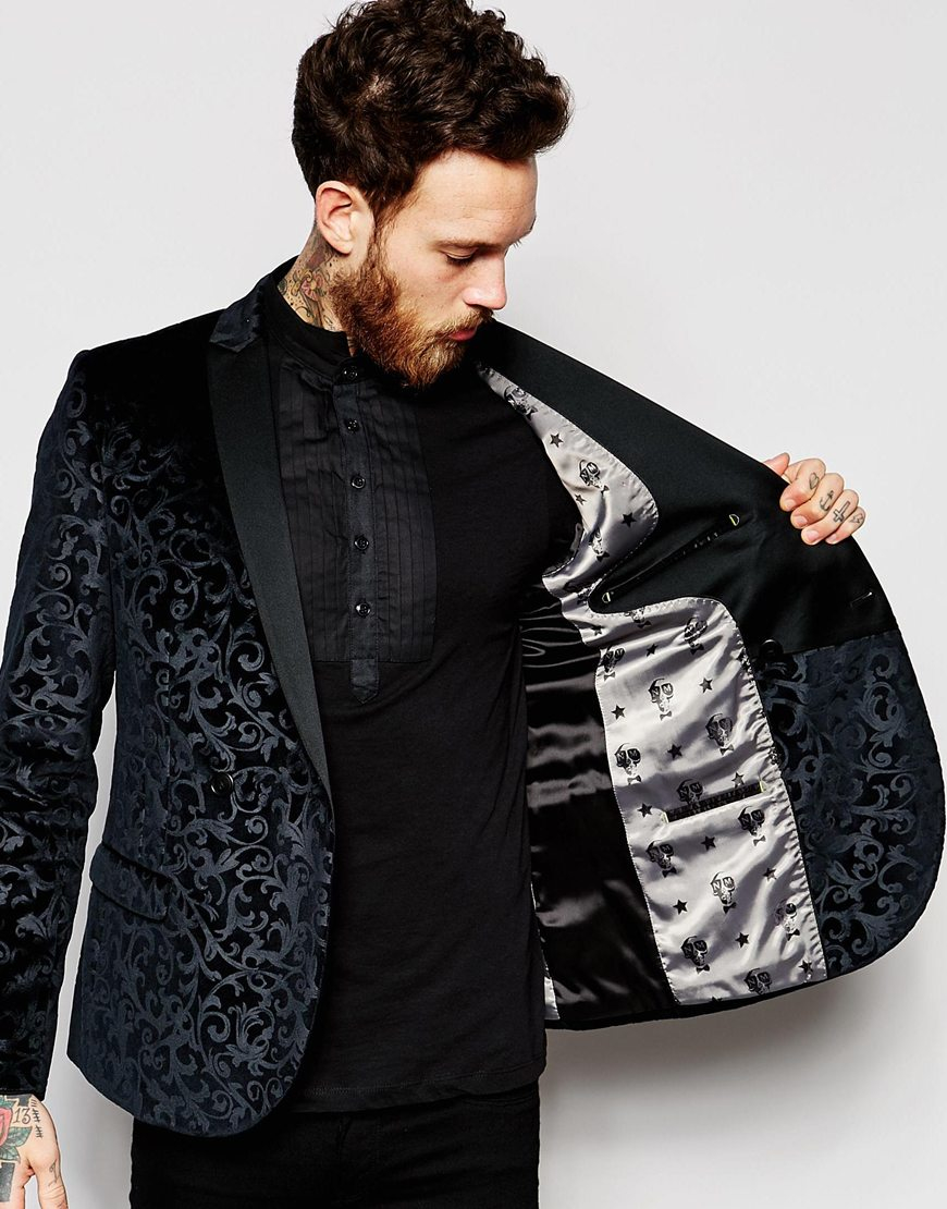 Lyst Noose And Monkey Velvet Blazer With Floral