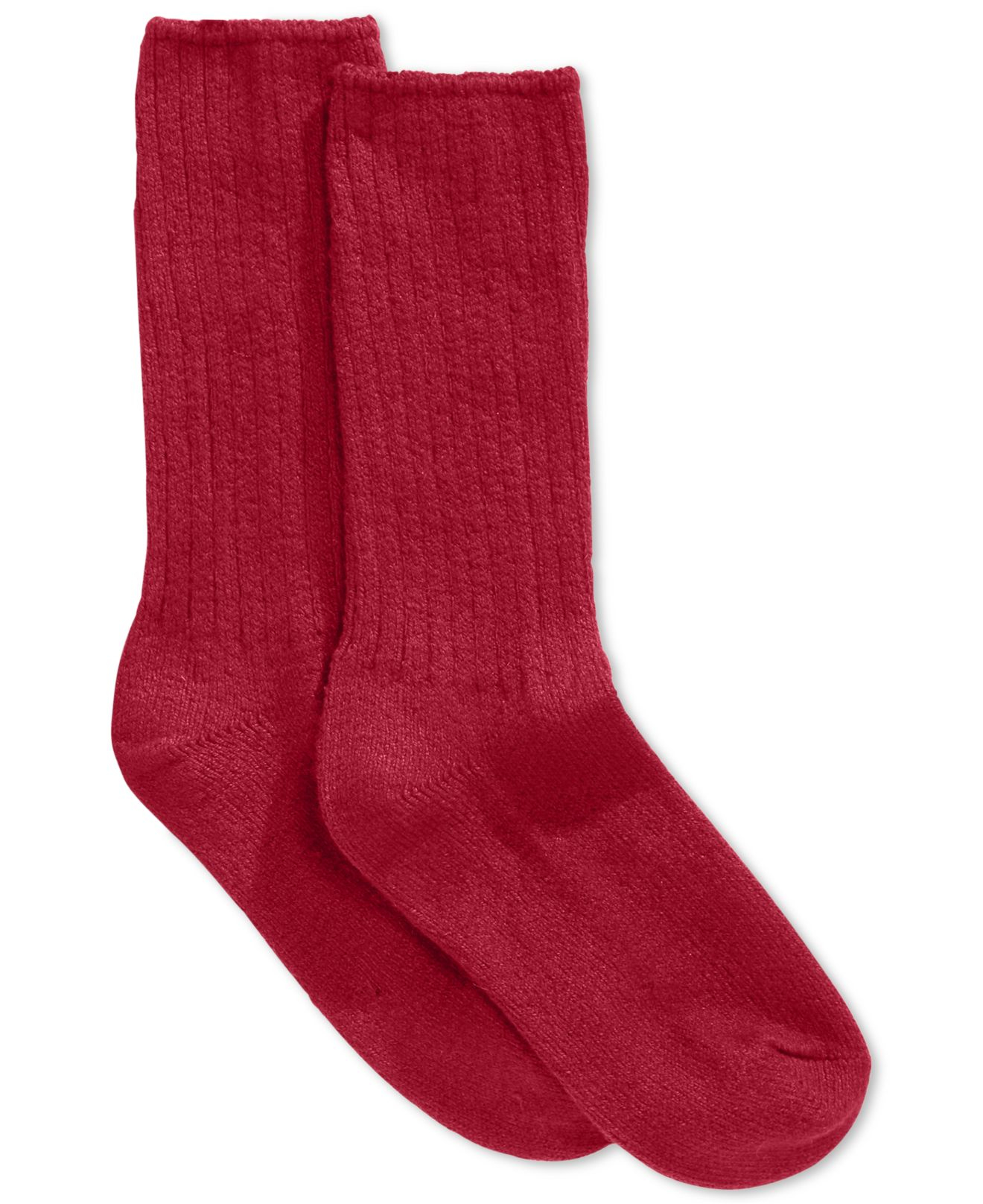Hue Women S Ribbed Boot Socks In Red Lyst