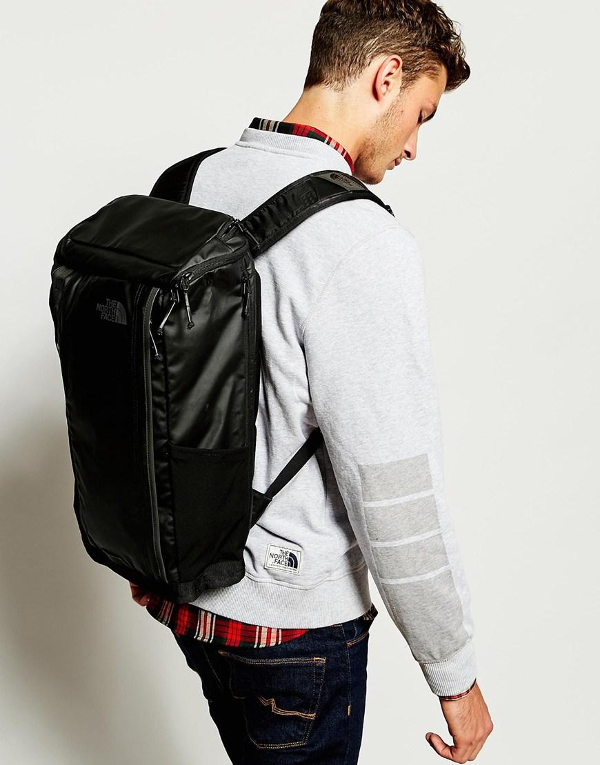 the north face base camp kaban backpack in black for men
