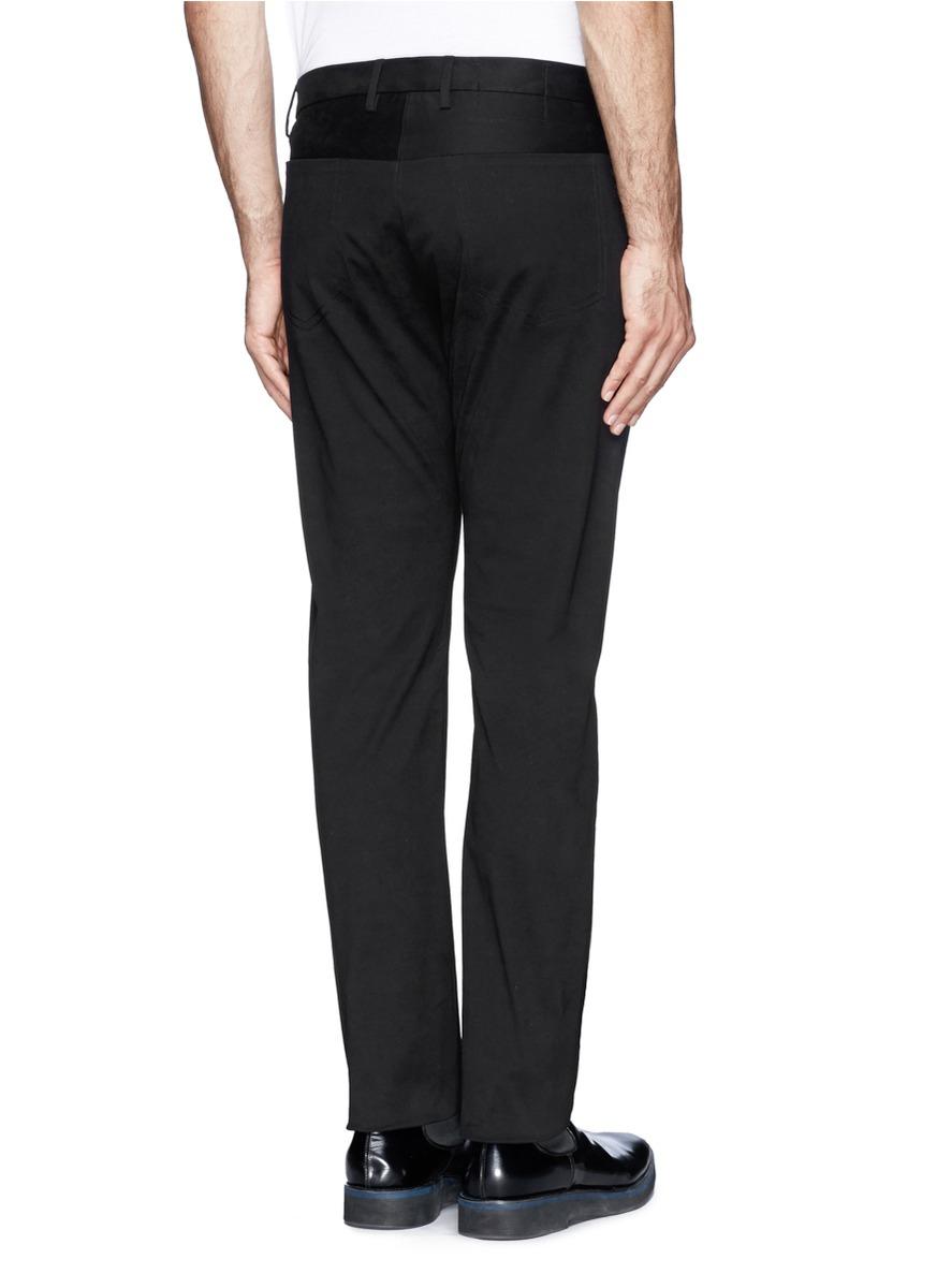 Jil Sander Back Seam Pocket Twill Pants In Black For Men