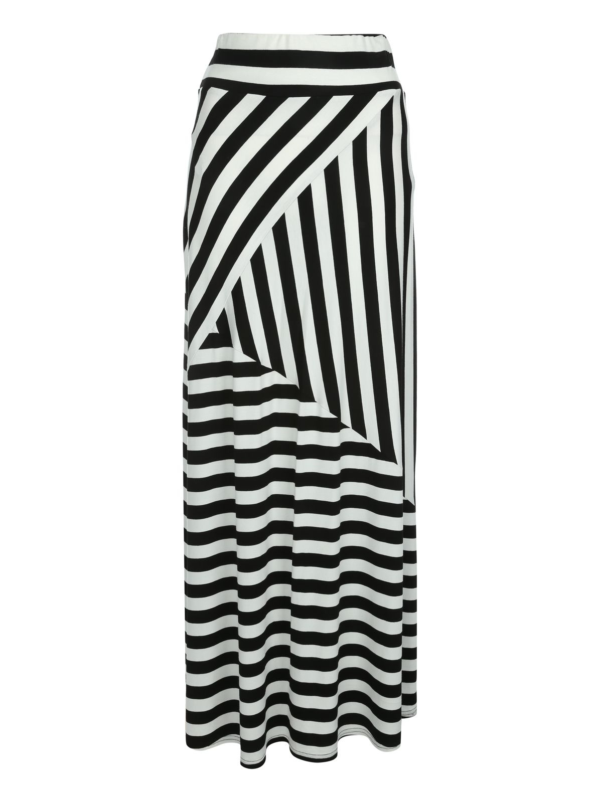 norman striped maxi skirt in black lyst