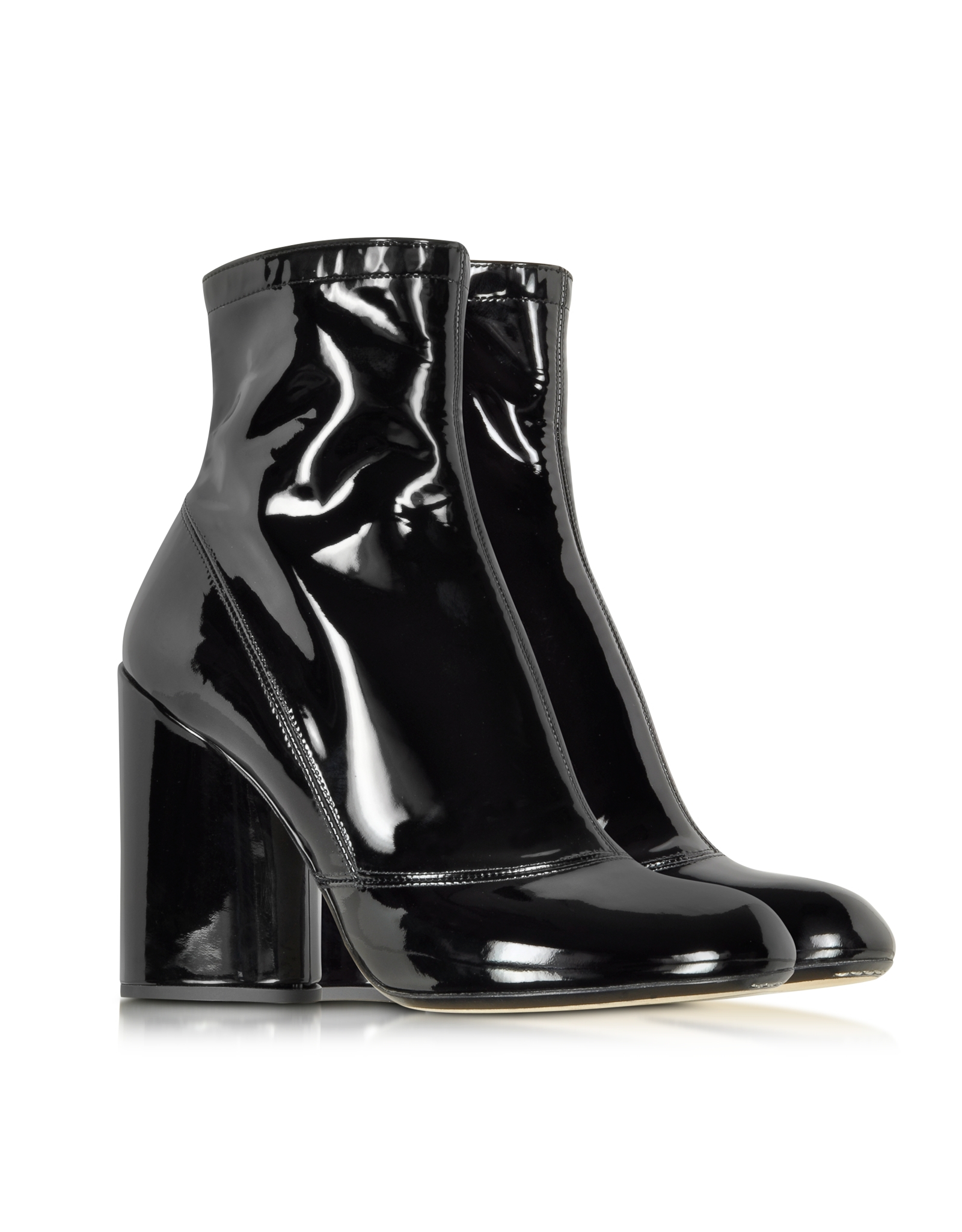 marc black patent leather boot in black lyst