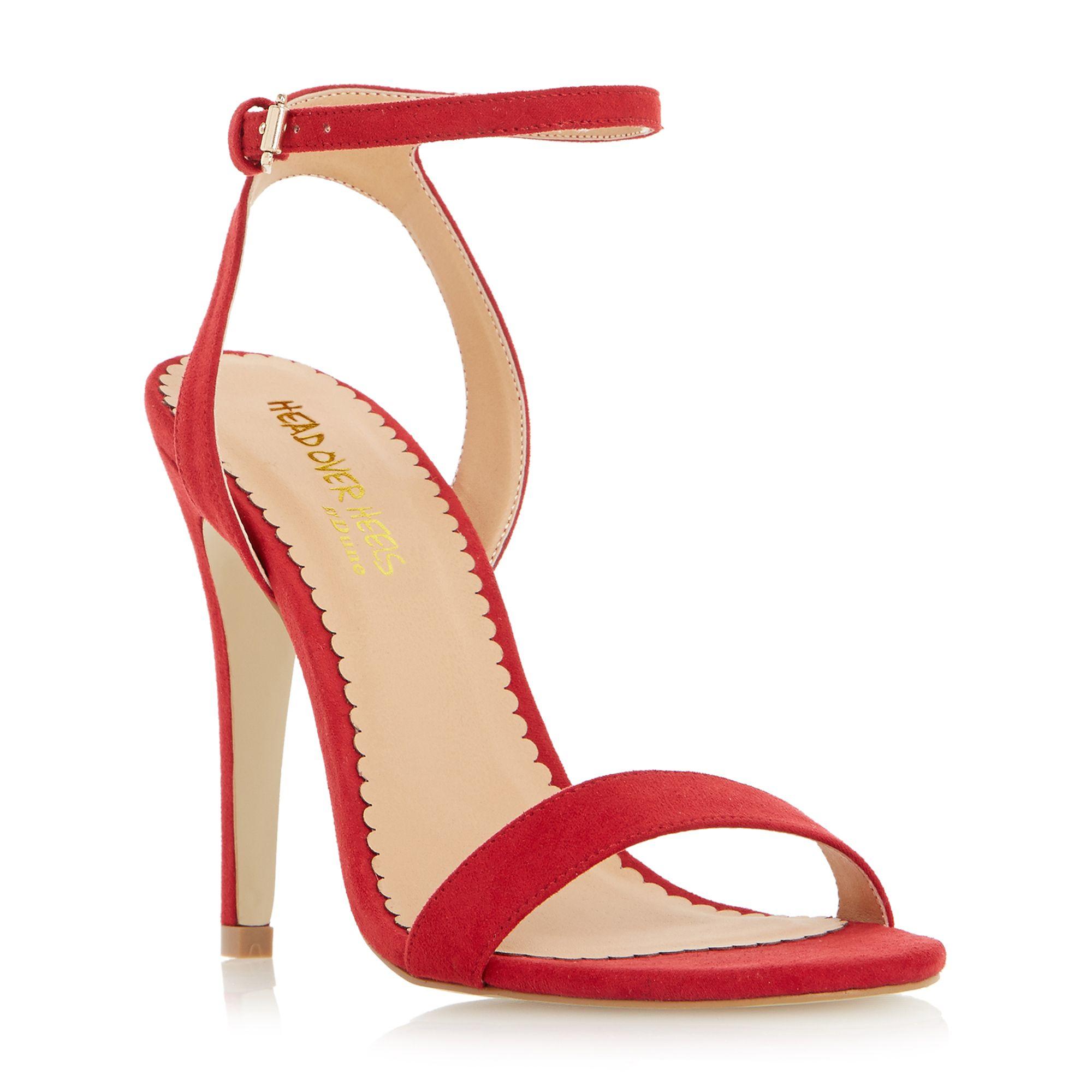 Dune Madam Two Part High Heel Strappy Sandals in Red | Lyst