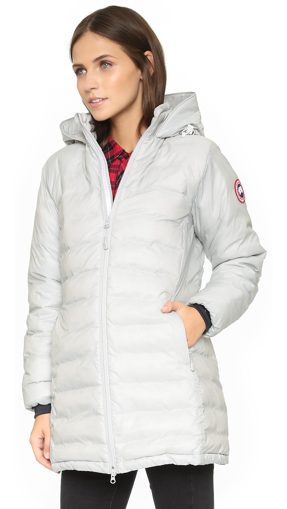e1ed95c1d Canada Goose White Camp Hooded Jacket