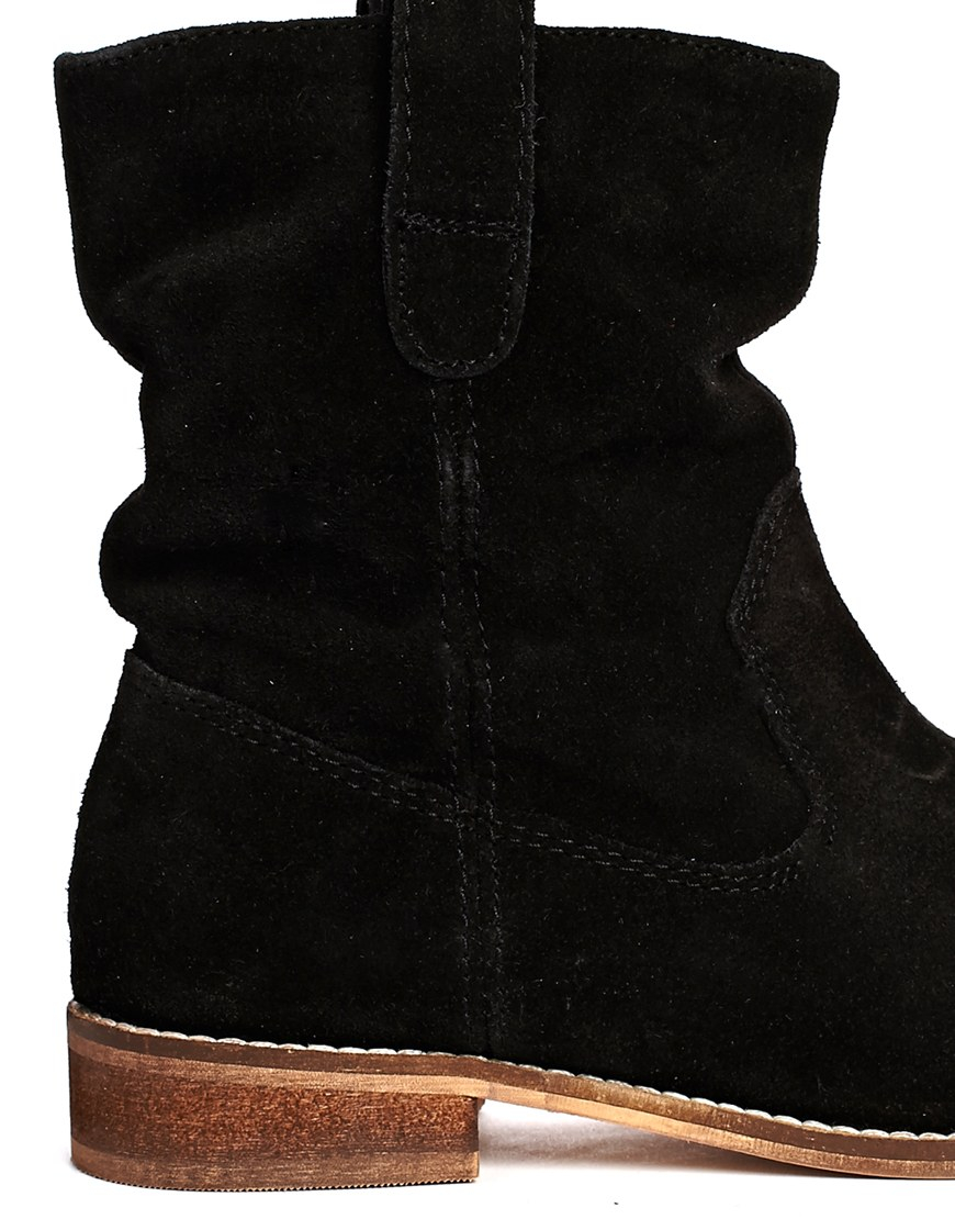 ASOS Aloof Suede Pull On Ankle Boots in