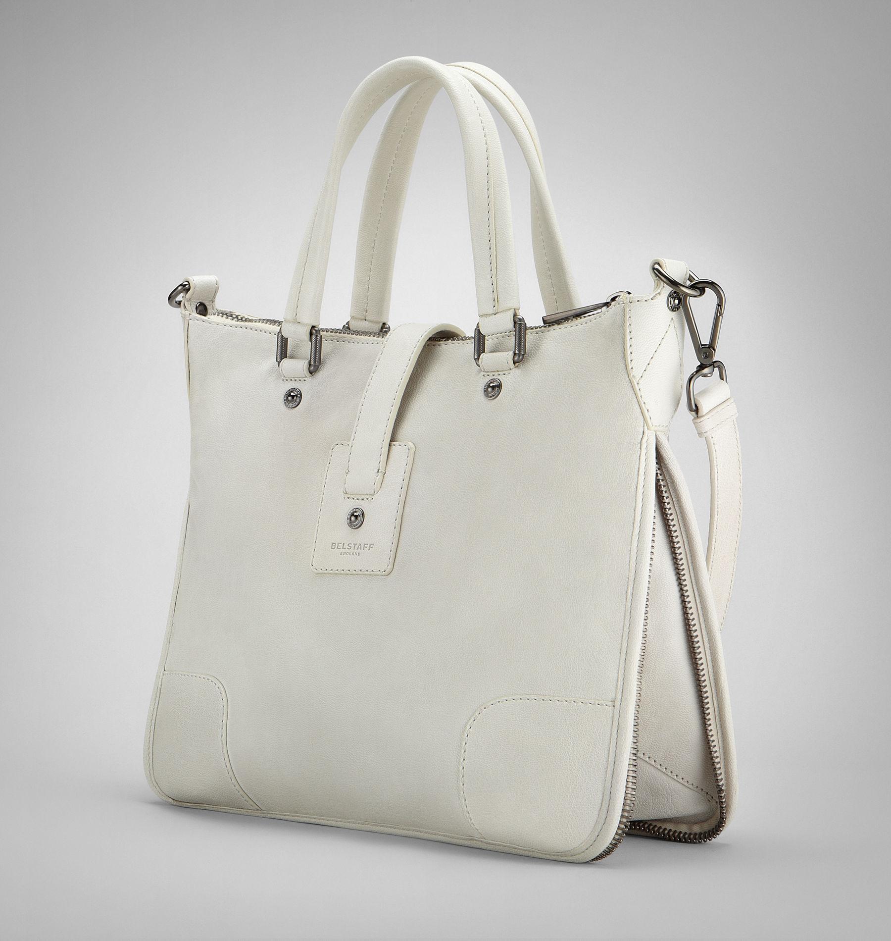 8eed6c8cac6 Belstaff Hampton Bag in Natural - Lyst