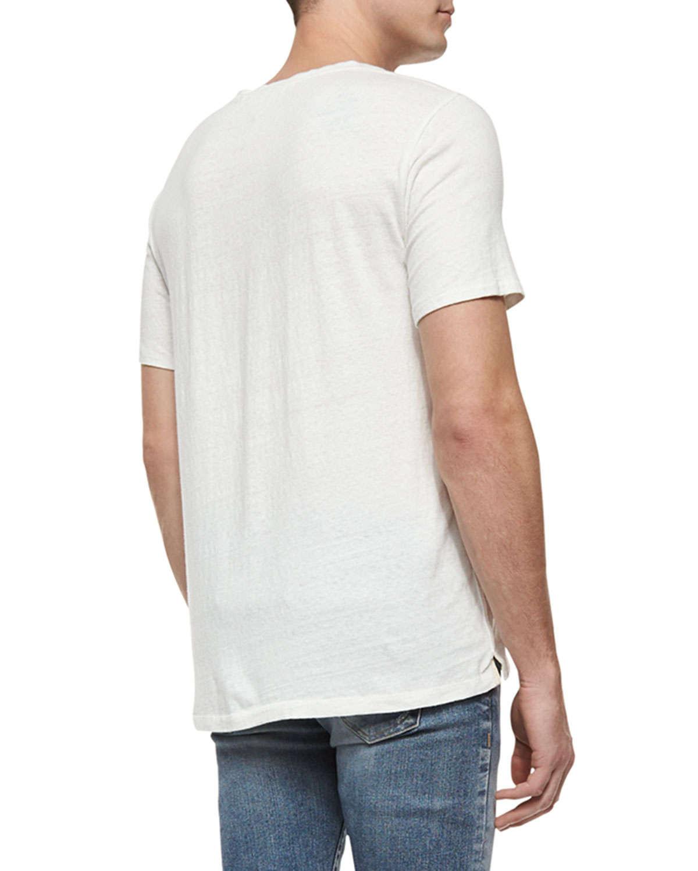 Lyst Rag Bone Lips Graphic Knit T Shirt In White For Men