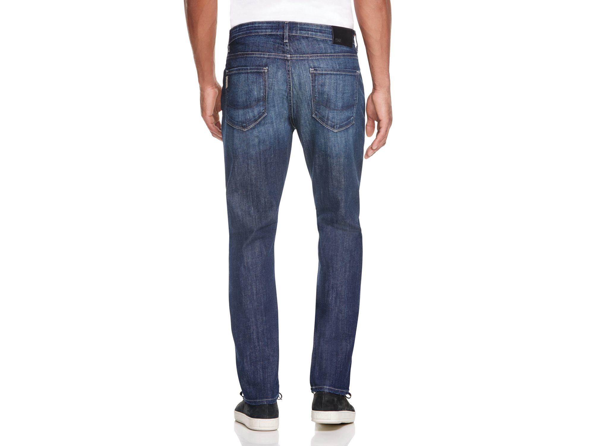 PAIGE Denim Federal Slim Fit Jeans In Ponyboy in Blue for Men