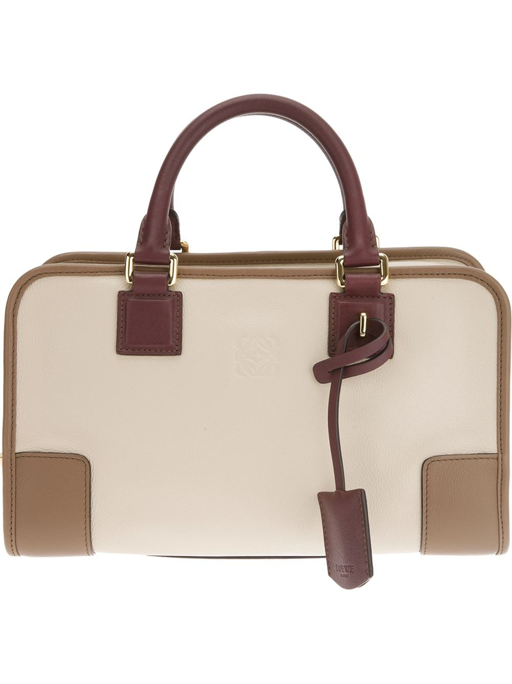 Loewe Structured Rectangle Tote Bag in Natural