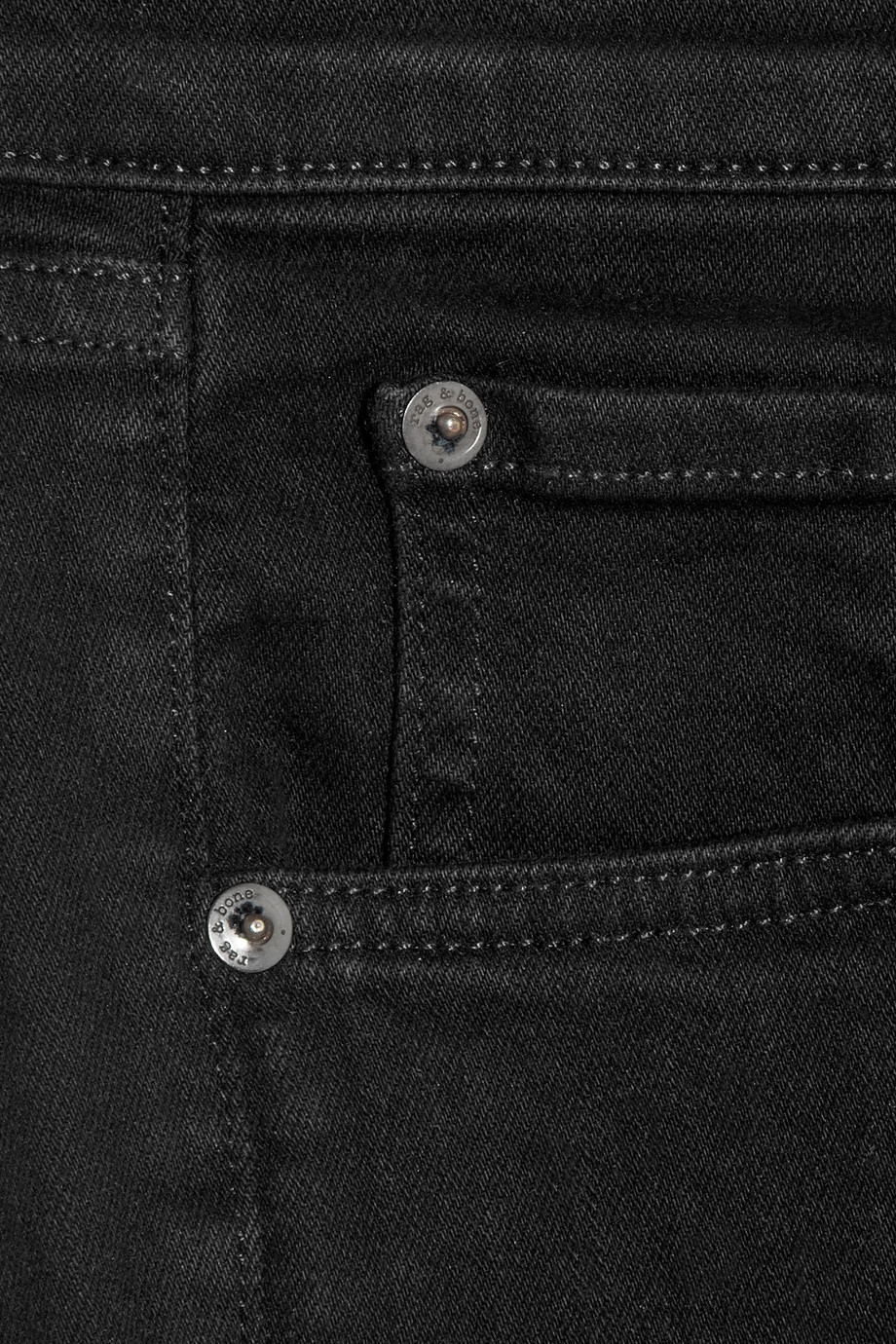 Rag & Bone High-Rise Skinny Jeans in Black