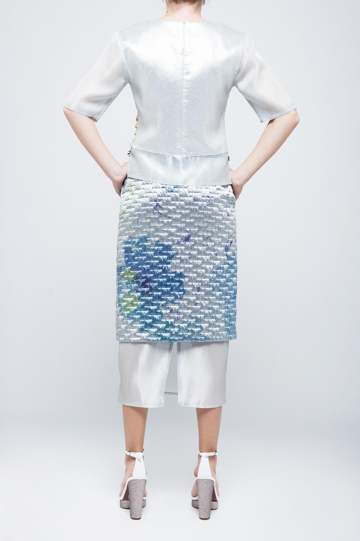 jolie su sans culotte quilted skirt in blue lyst. Black Bedroom Furniture Sets. Home Design Ideas