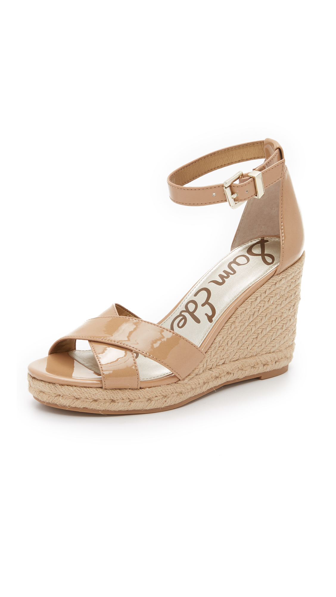 ec8cad046a9 Sam Edelman Natural Brenda Espadrille Wedge Sandals