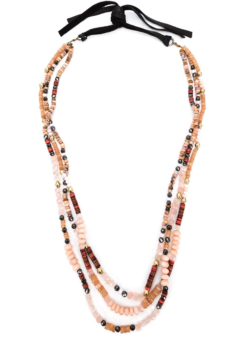 Royal nomad jewelry Mixed Stone Beaded Necklace in ...
