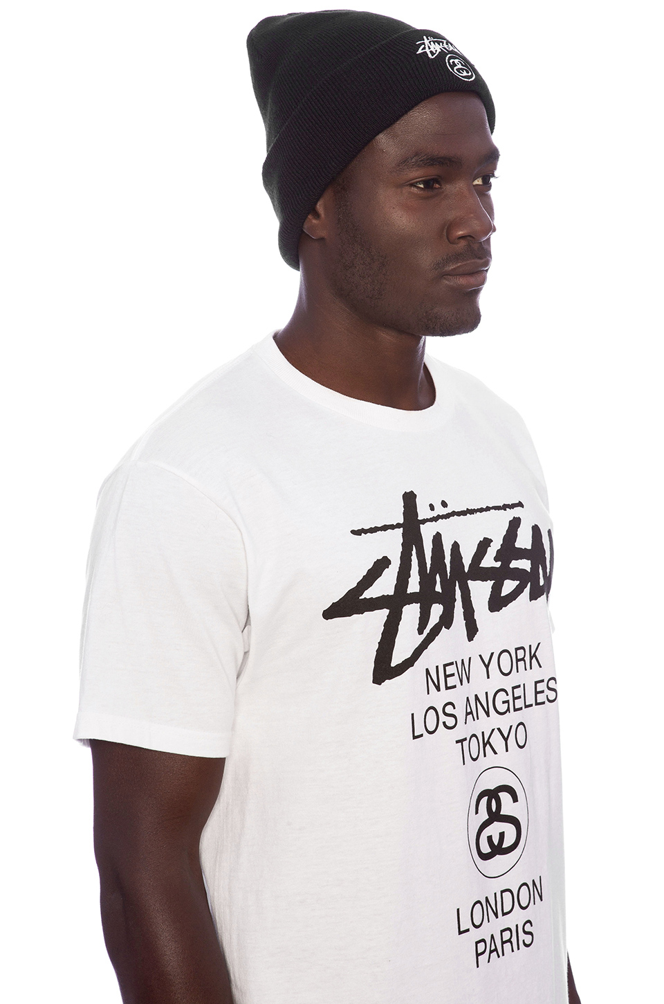 Lyst - Stussy Stock Lock Cuff Beanie in Black for Men de05d500d32