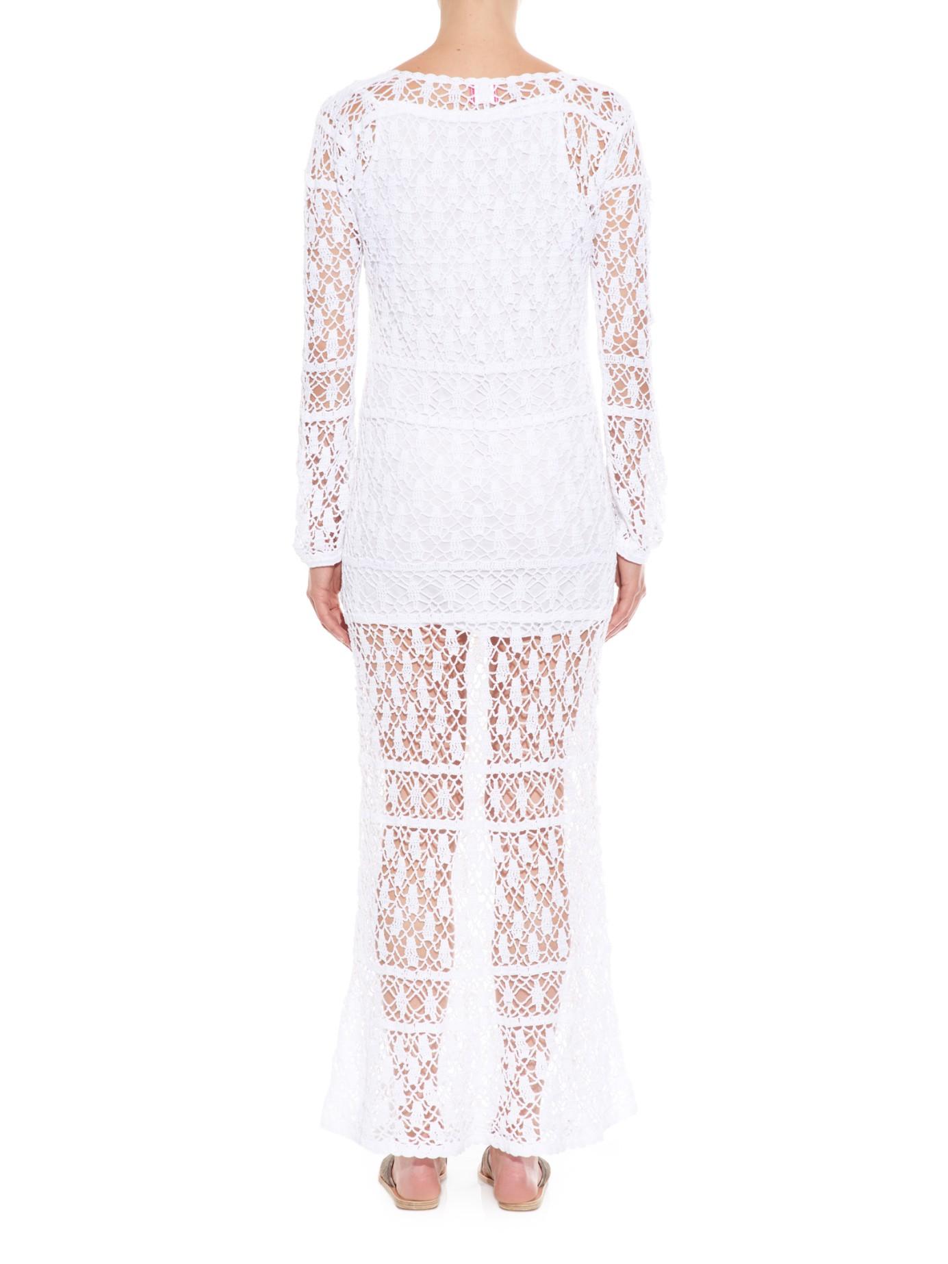 Bianca crocheted cotton dress Anna Kosturova oELD1q5QO