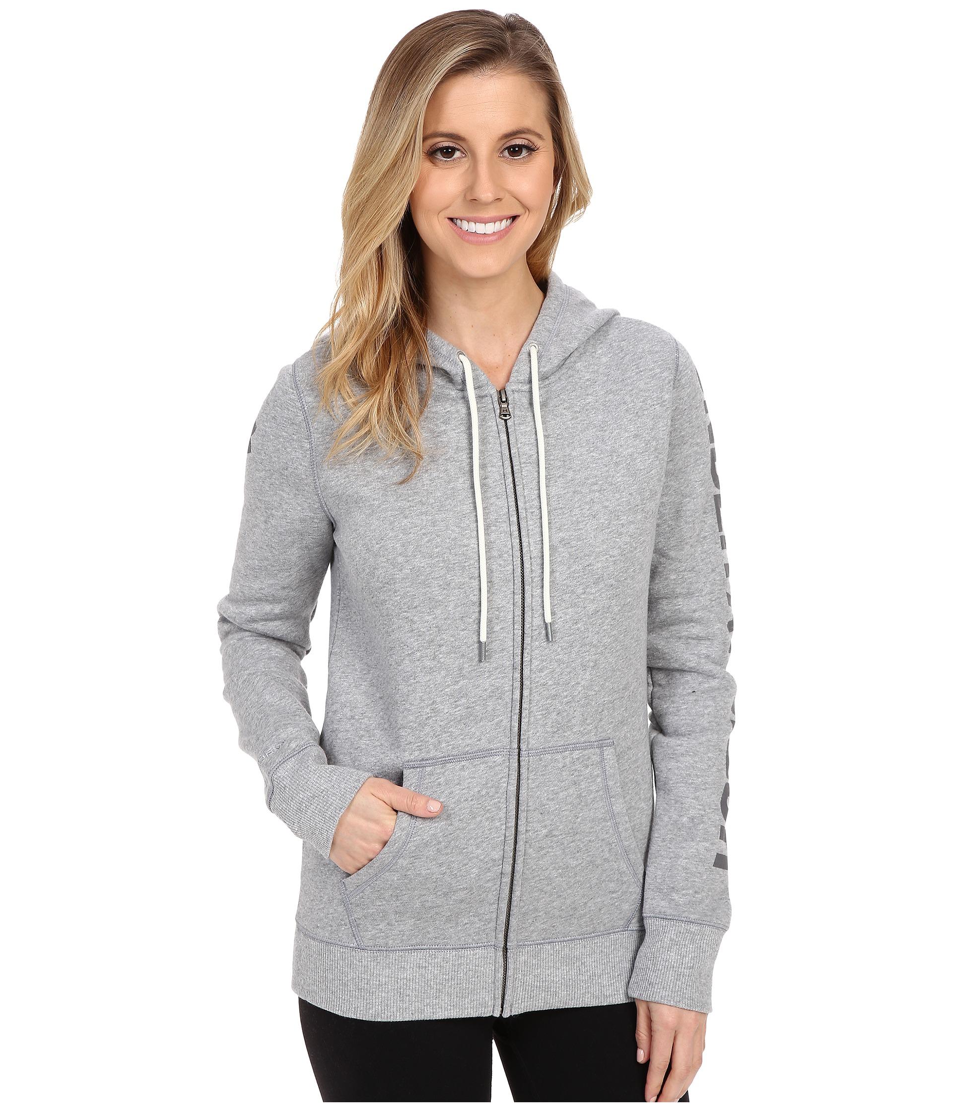 9626c6b7 Women's Gray Ua Storm Rival Cotton Full-zip Hoodie