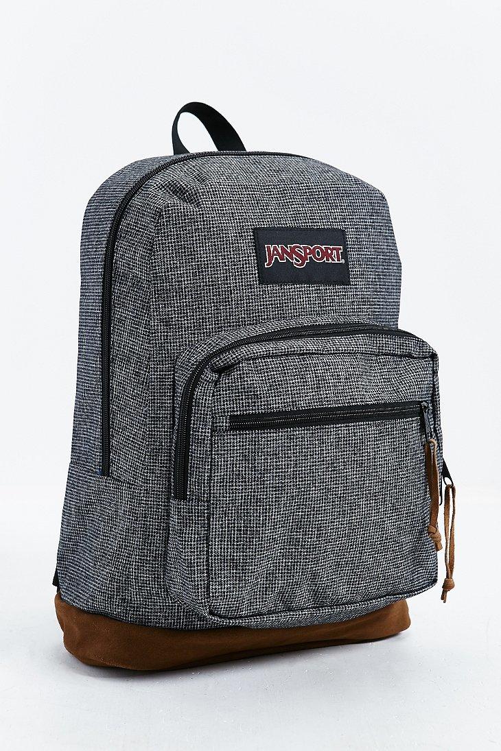 Jansport Right Pack Houndstooth Backpack In Dark Grey