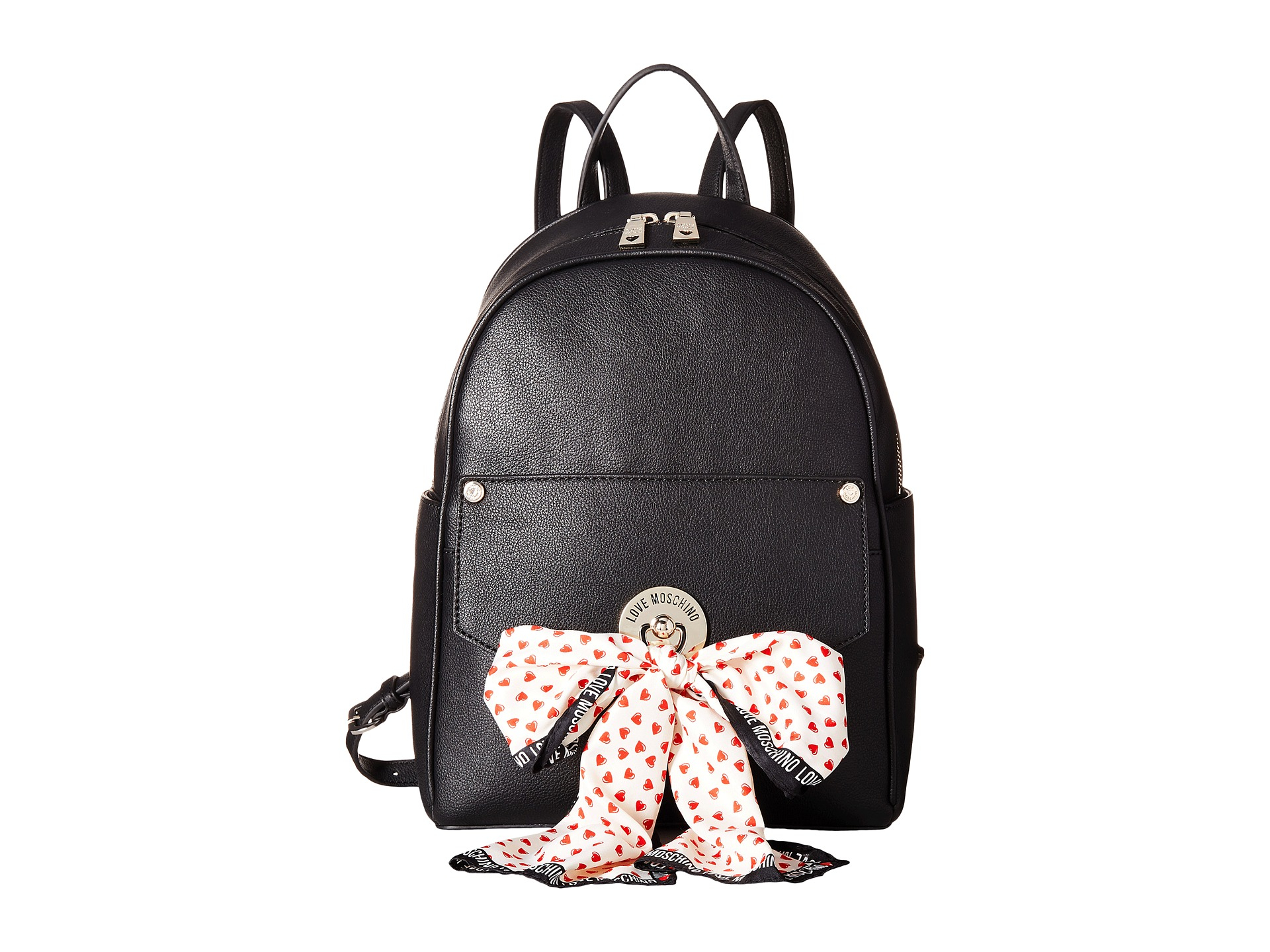 love moschino scarf backpack in pink lyst. Black Bedroom Furniture Sets. Home Design Ideas