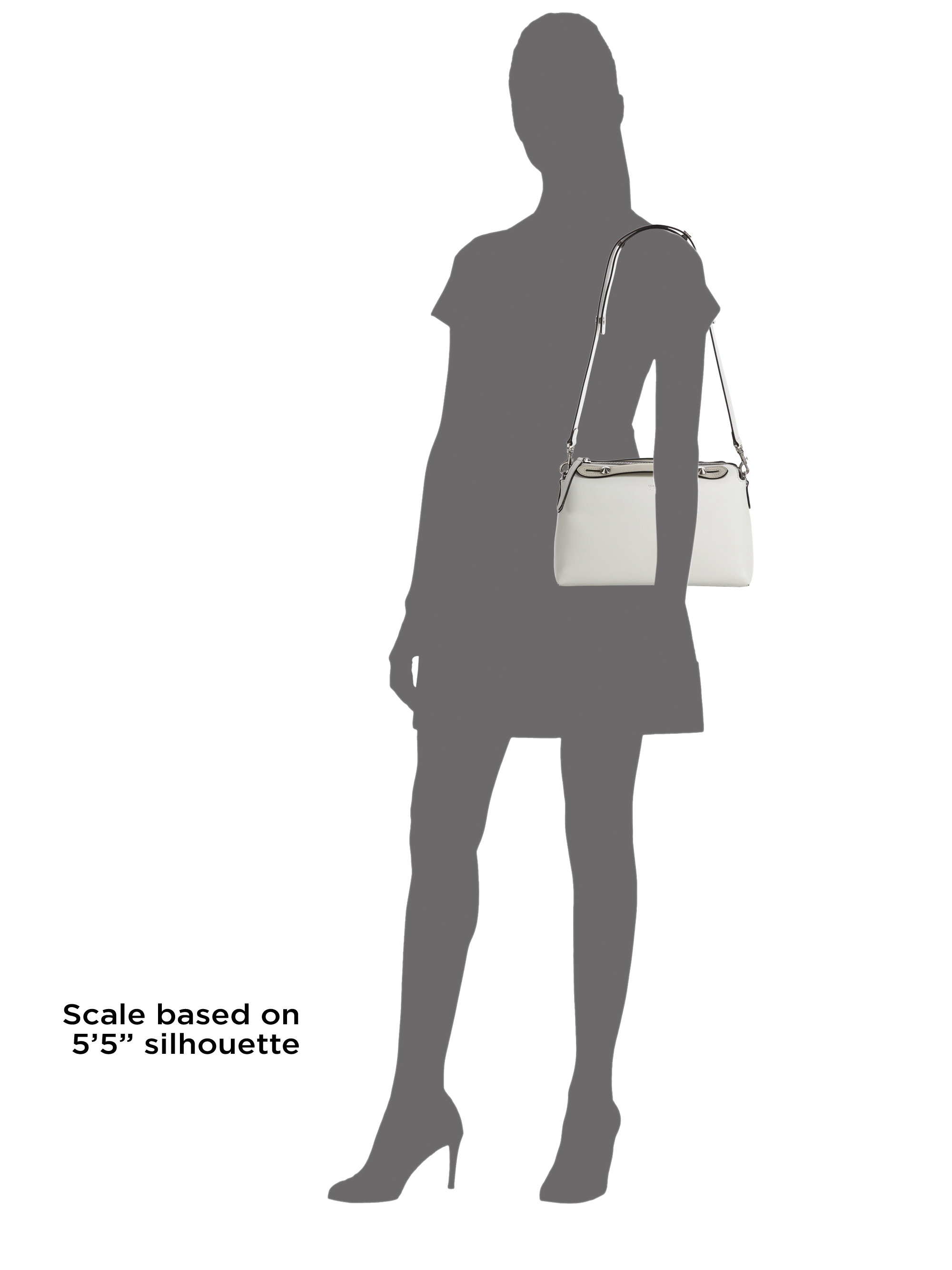 Fendi By The Way Small Crocodile-accented Satchel in White  1bfe17caa81c9