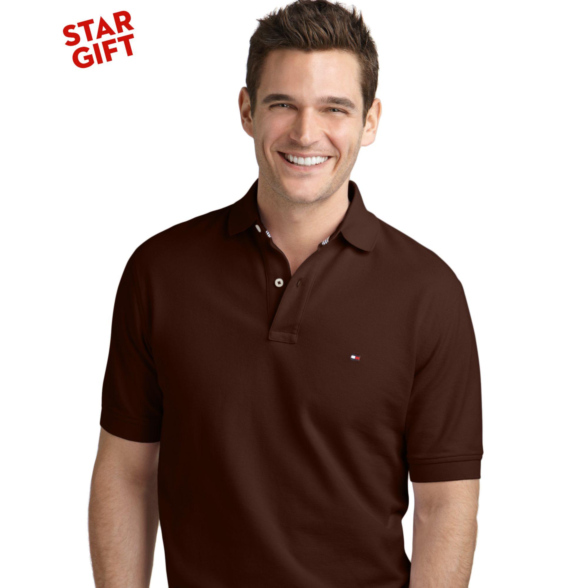 lyst tommy hilfiger ivy polo shirt in brown for men. Black Bedroom Furniture Sets. Home Design Ideas