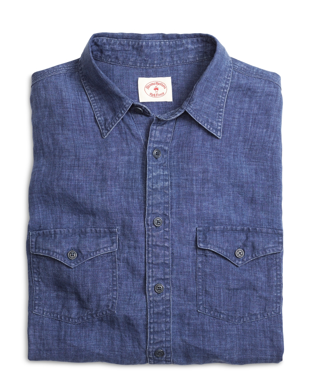 Brooks brothers linen sport shirt in blue for men lyst for Brooks brothers sports shirts