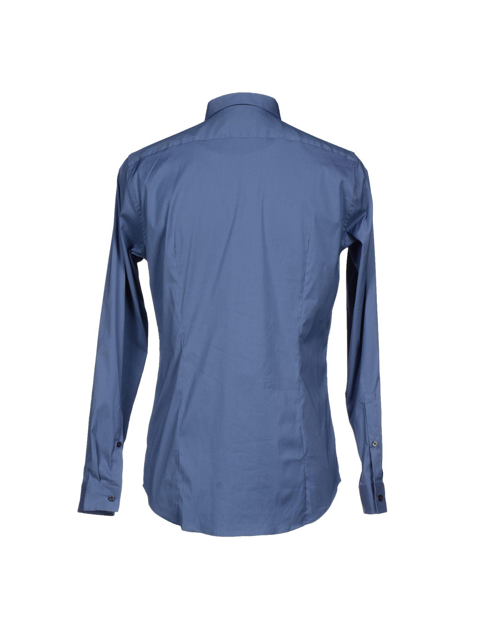 michael kors shirt in blue for men slate blue lyst. Black Bedroom Furniture Sets. Home Design Ideas