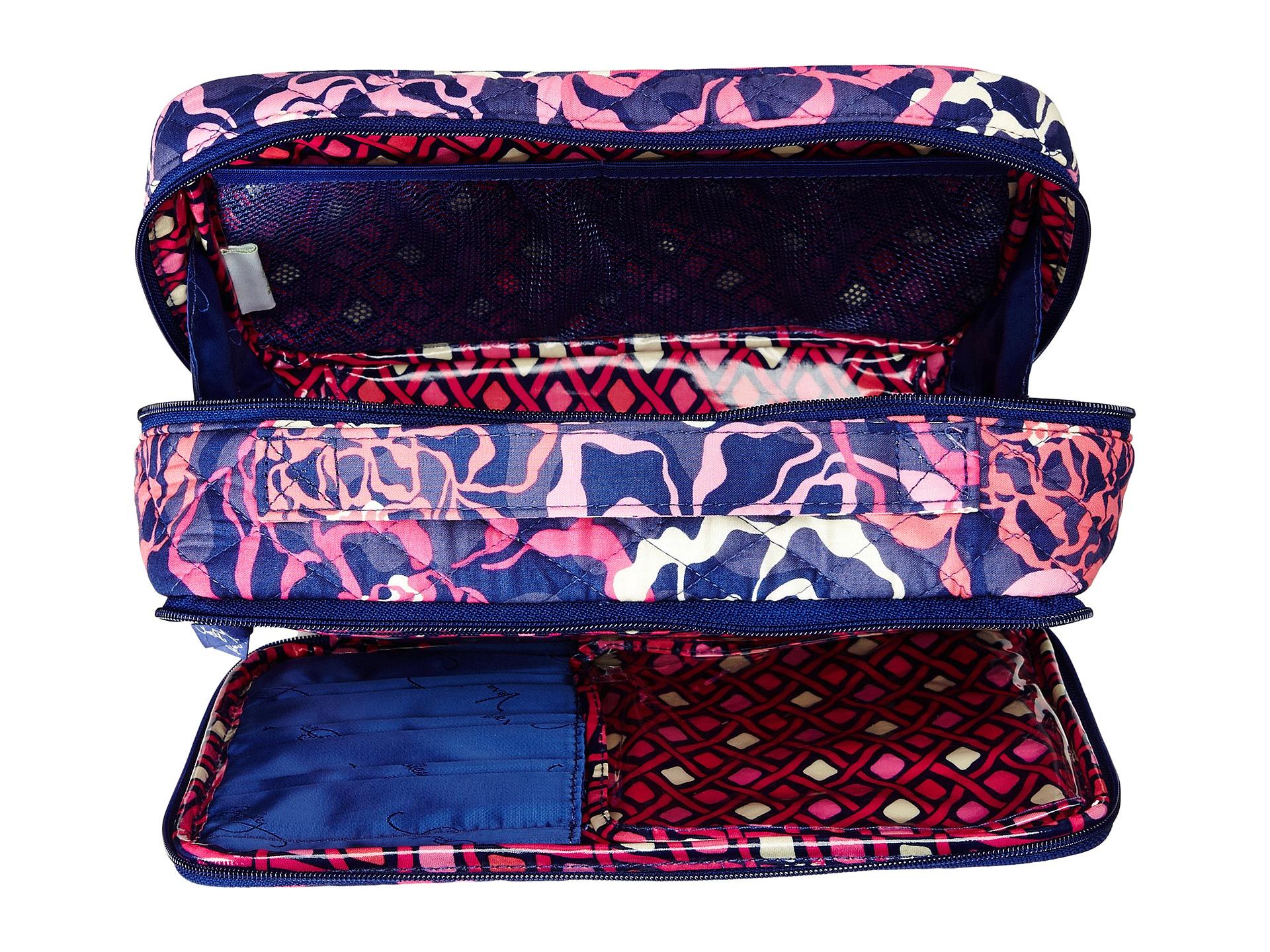 Lyst Vera Bradley Large Blush Amp Brush Makeup Case In Pink