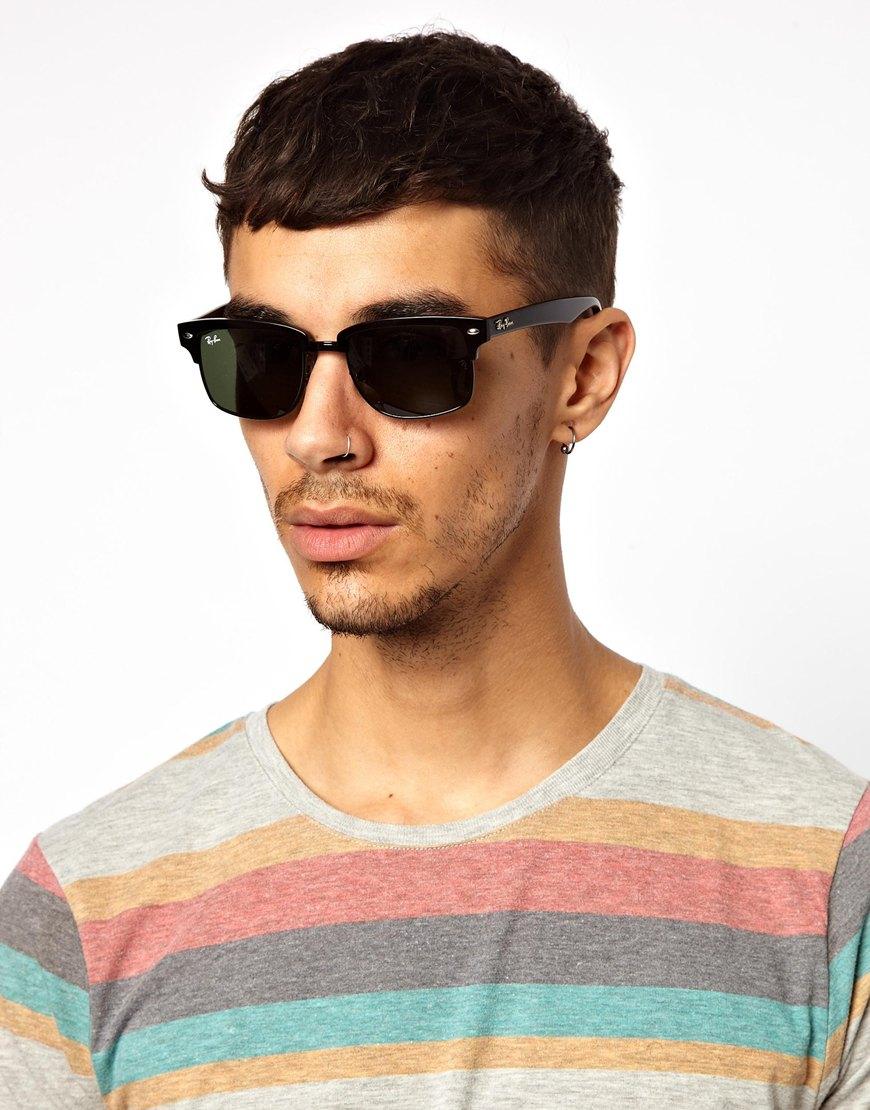 ray ban men's sunglasses square
