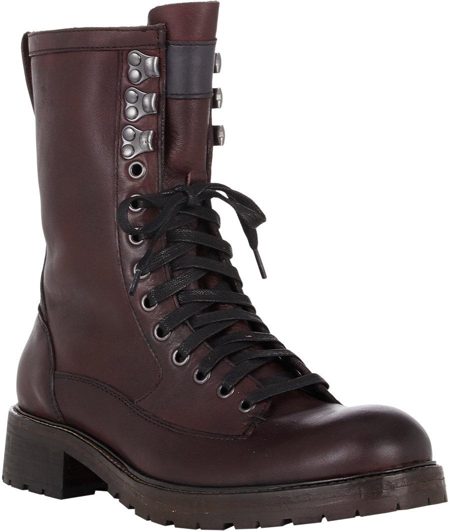 John Varvatos Gibbons Vintage Boots In Red For Men Lyst