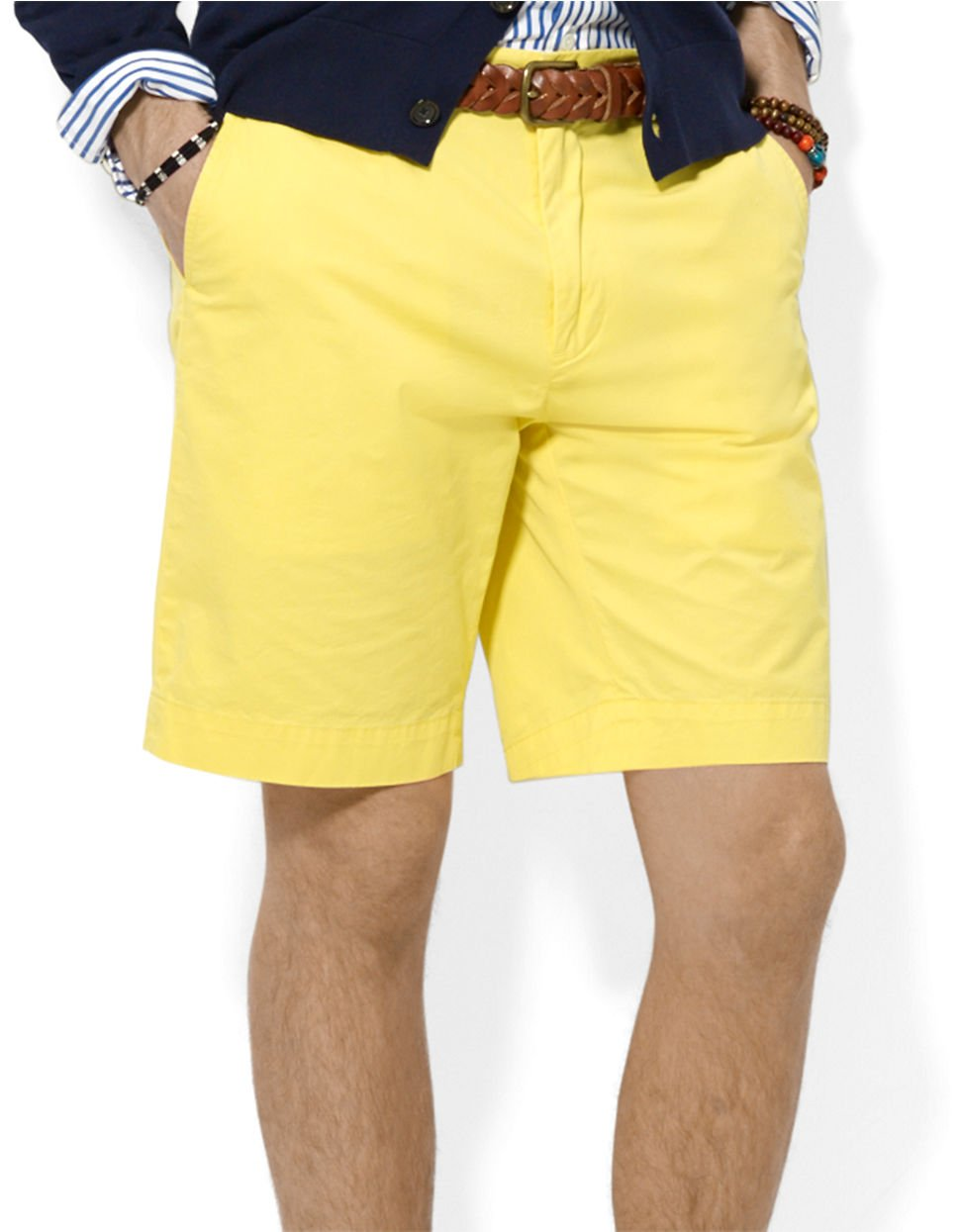 Polo ralph lauren Classic-Fit Lightweight Chino Shorts in Yellow ...
