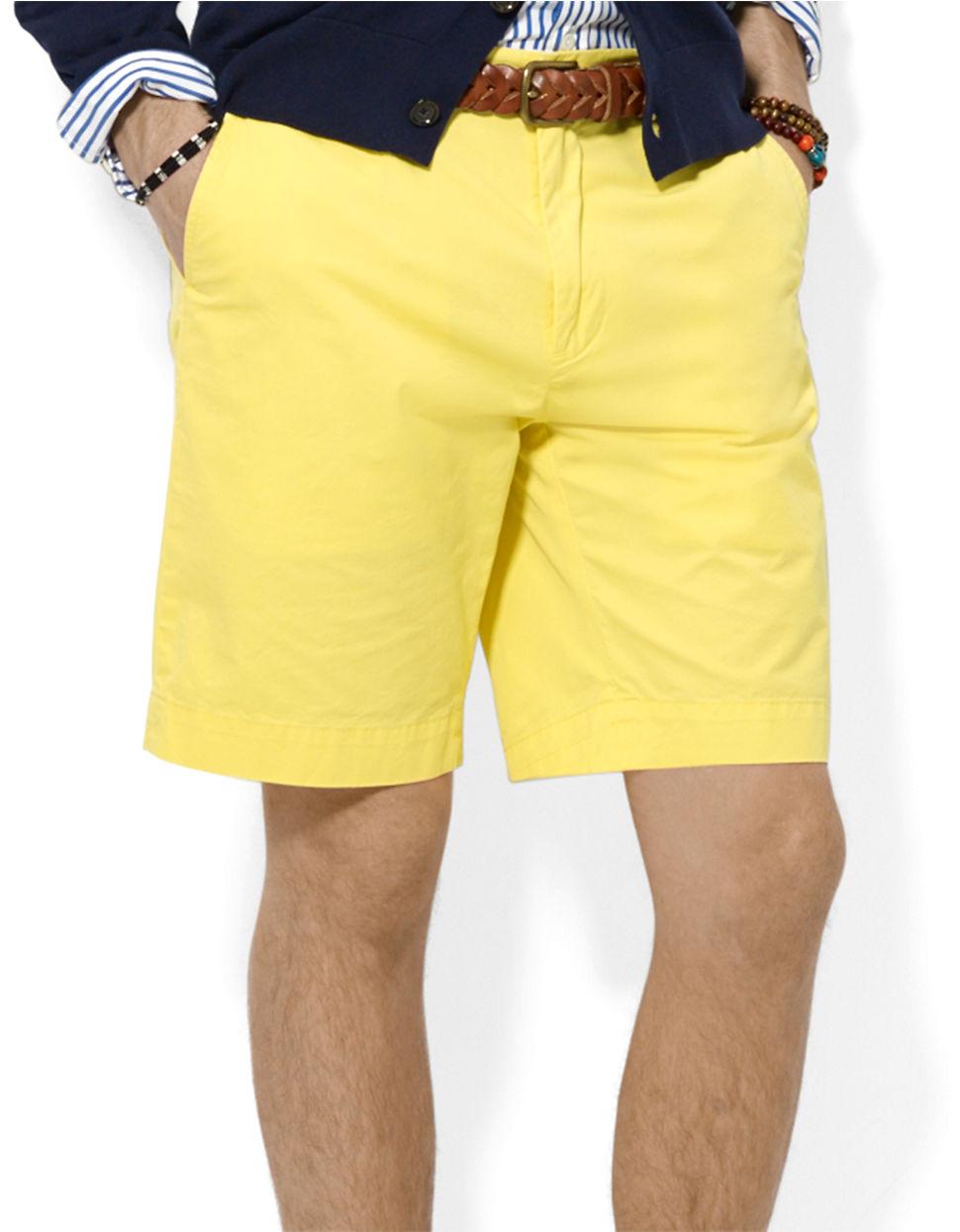 Mens Yellow Chino Shorts Hardon Clothes