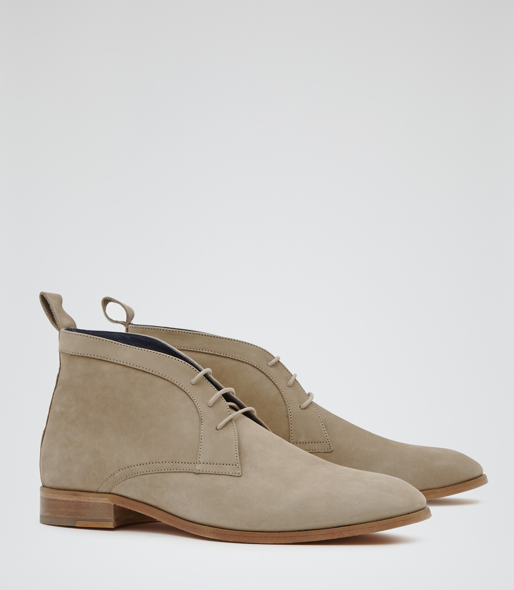 Reiss Chapman Grained Chukka Boots in Natural for Men | Lyst