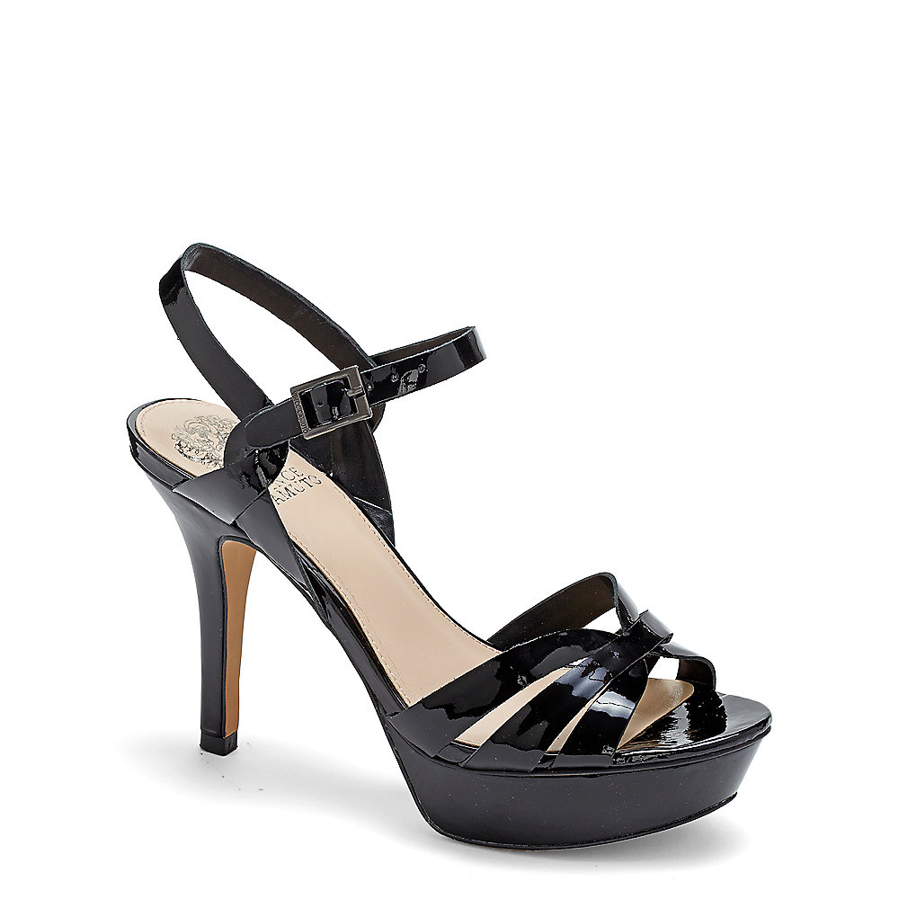 Black Patent Leather Shoes With Ankle Strap