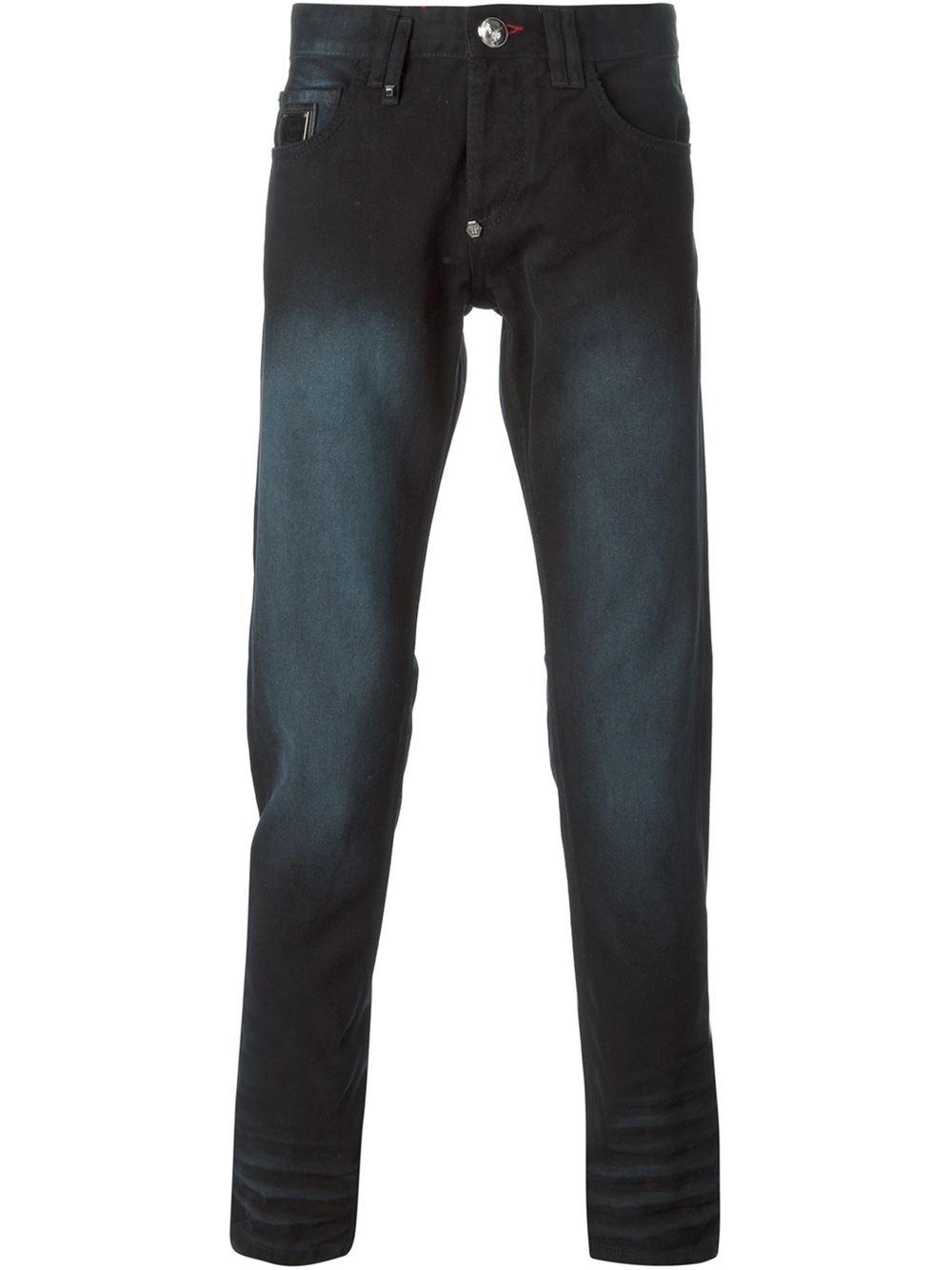 philipp plein slim fit jeans in black for men lyst. Black Bedroom Furniture Sets. Home Design Ideas