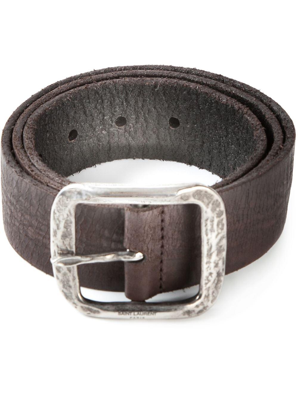 embossed belt - Brown Saint Laurent dRYi22aU5