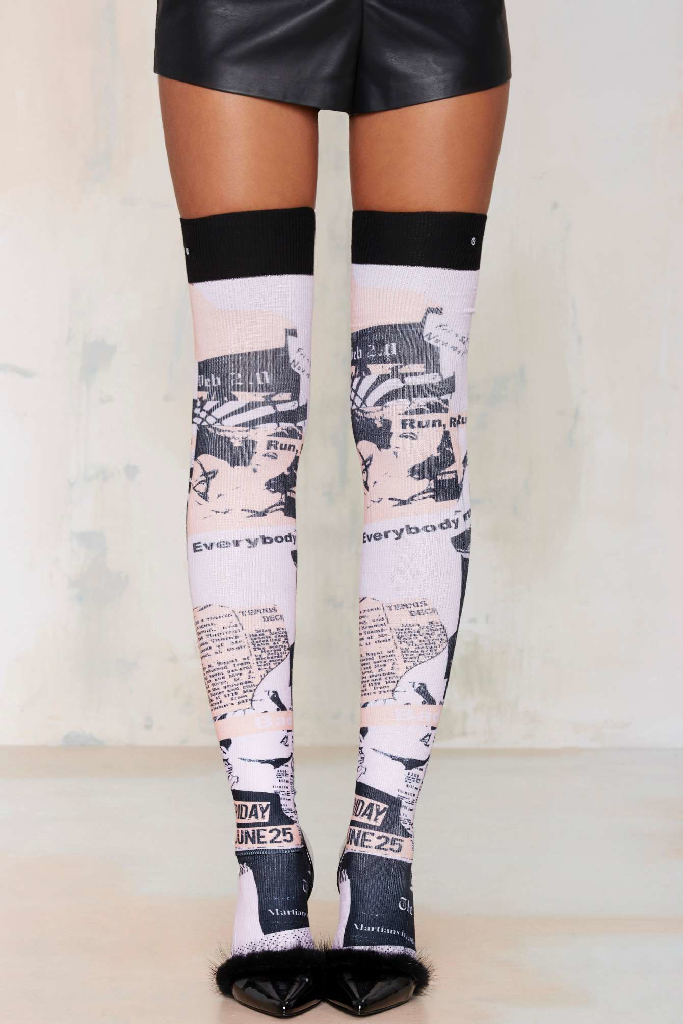 4f8e2f7bf15 Nasty Gal Rihanna X Stance Most Wanted Thigh-high Socks - Lyst