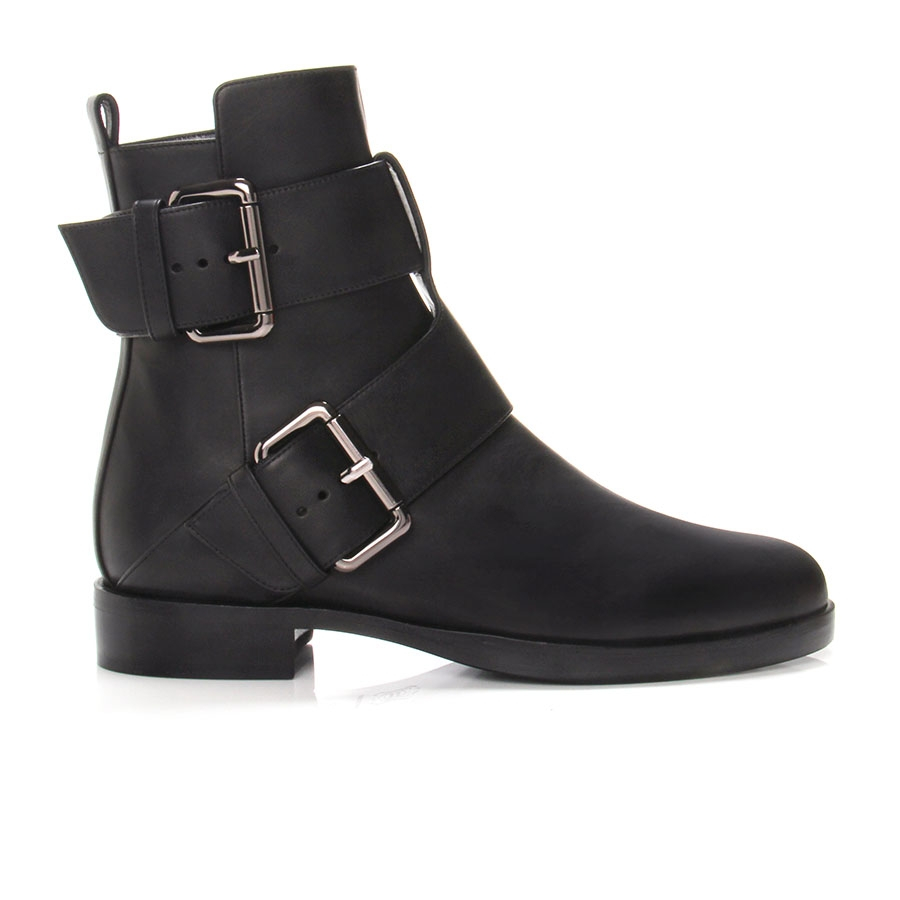 hardy leather buckle ankle boots in black lyst