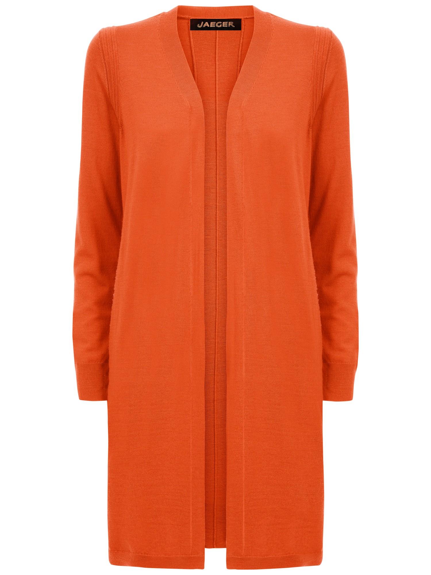 Jaeger Gostwyck Long-Line Cardigan in Orange
