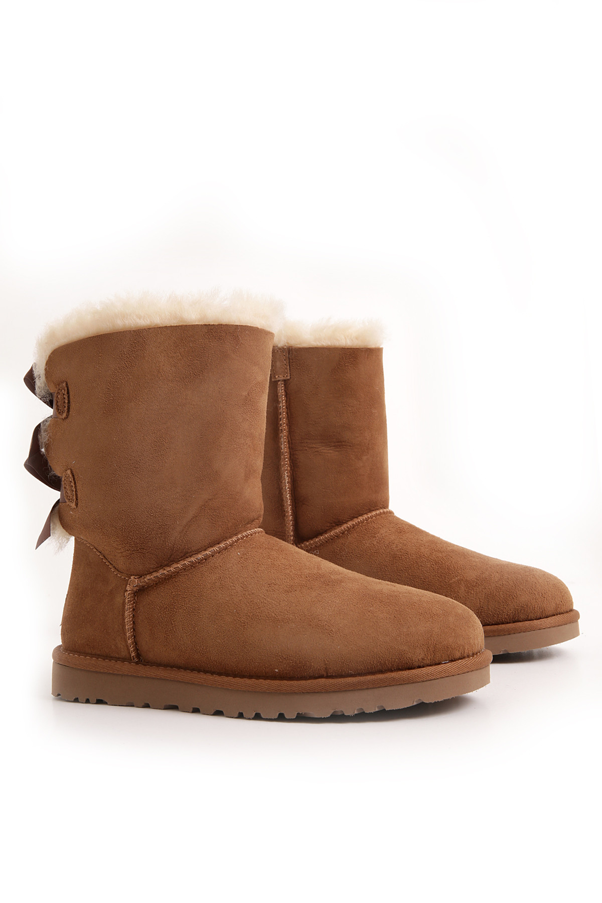tall brown uggs with bows