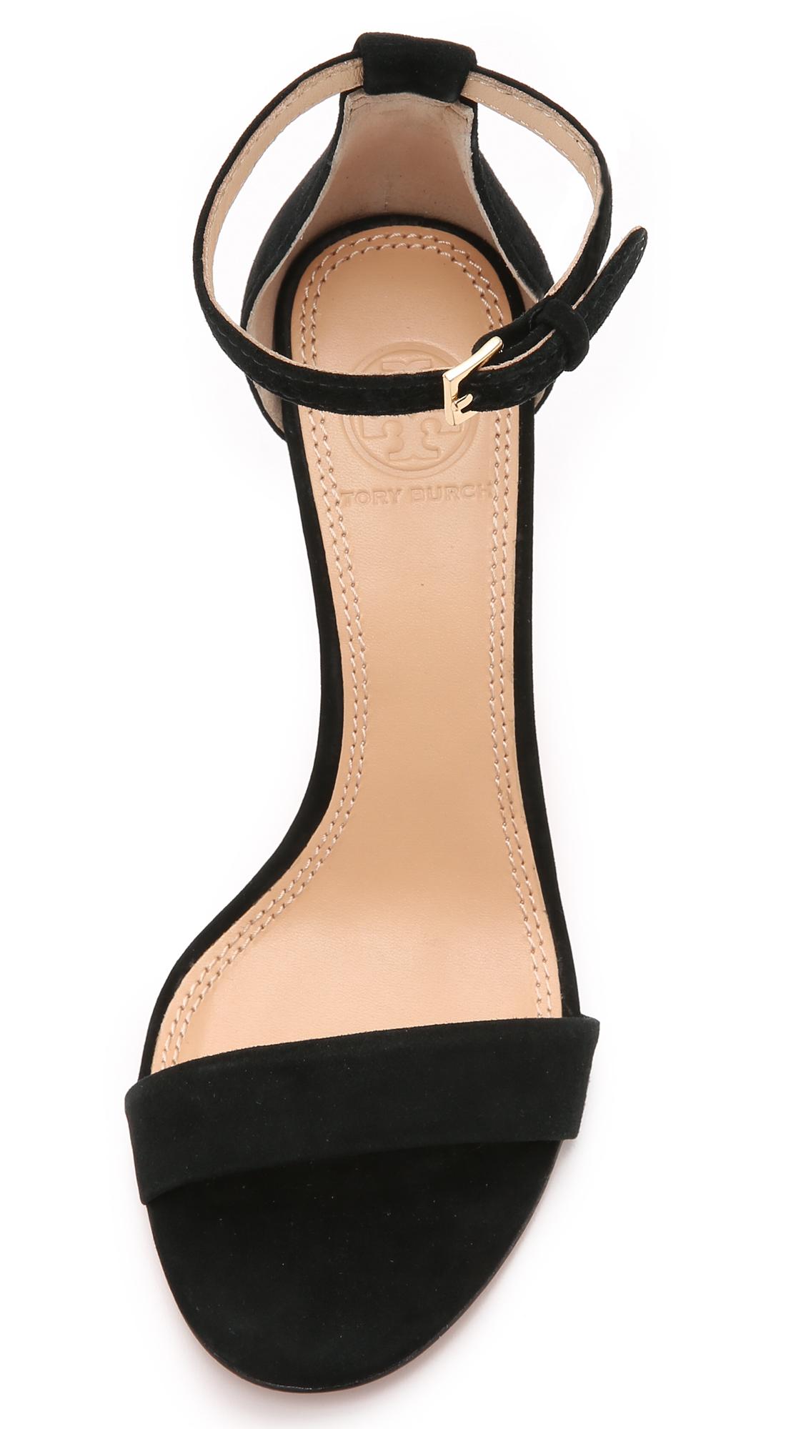 c3040ff7ed7f Lyst - Tory Burch Classic Ankle Strap Sandals in Black