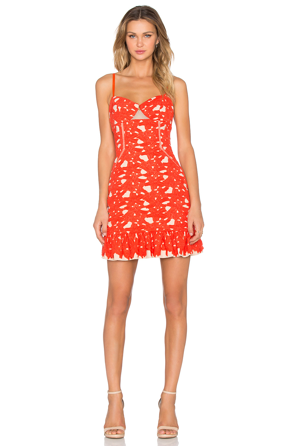 Three floor cheeky summer dress in orange lyst for Three floor yellow dress