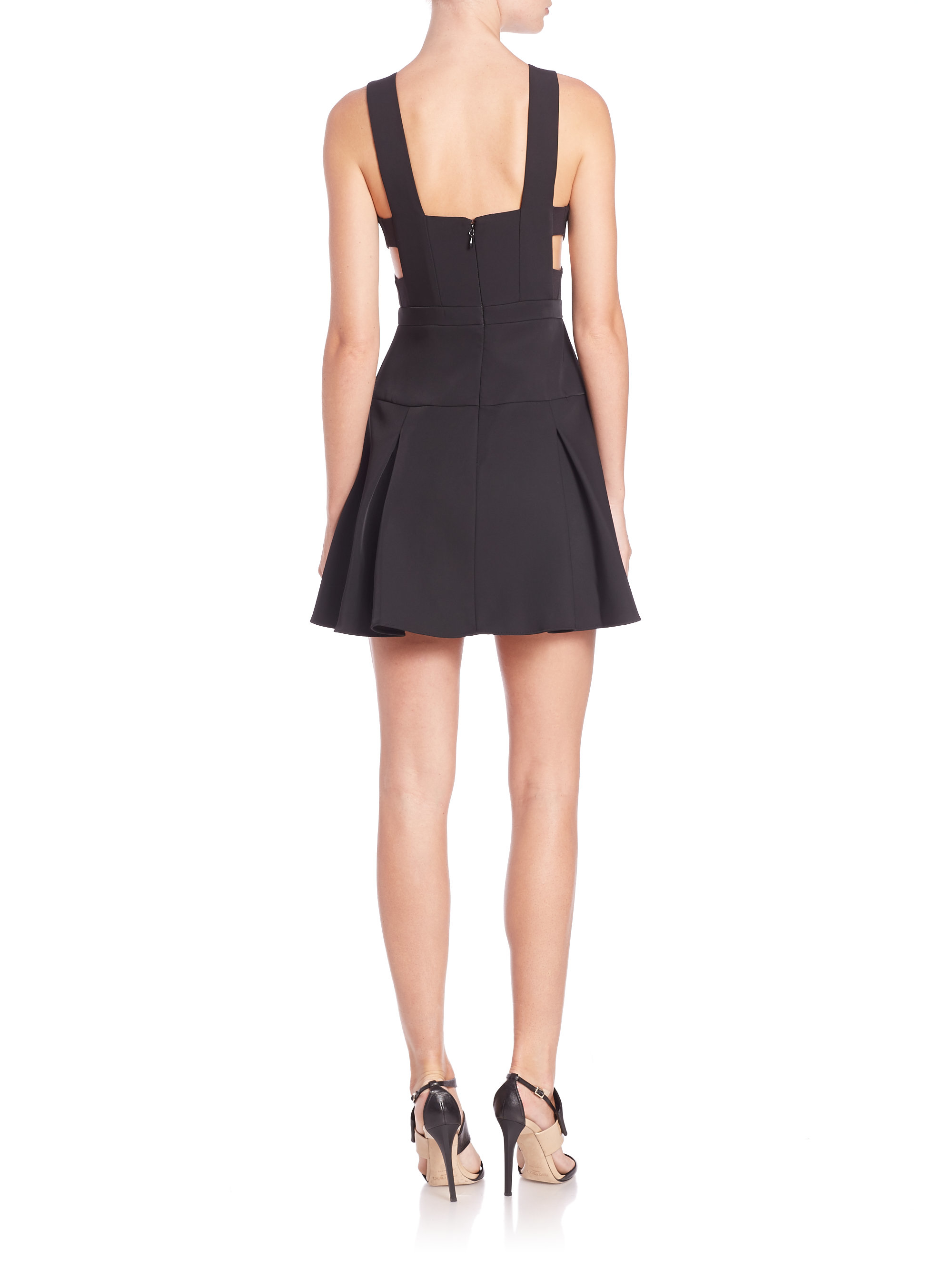 BCBG Long Black Dress with Cut Out Back – fashion dresses
