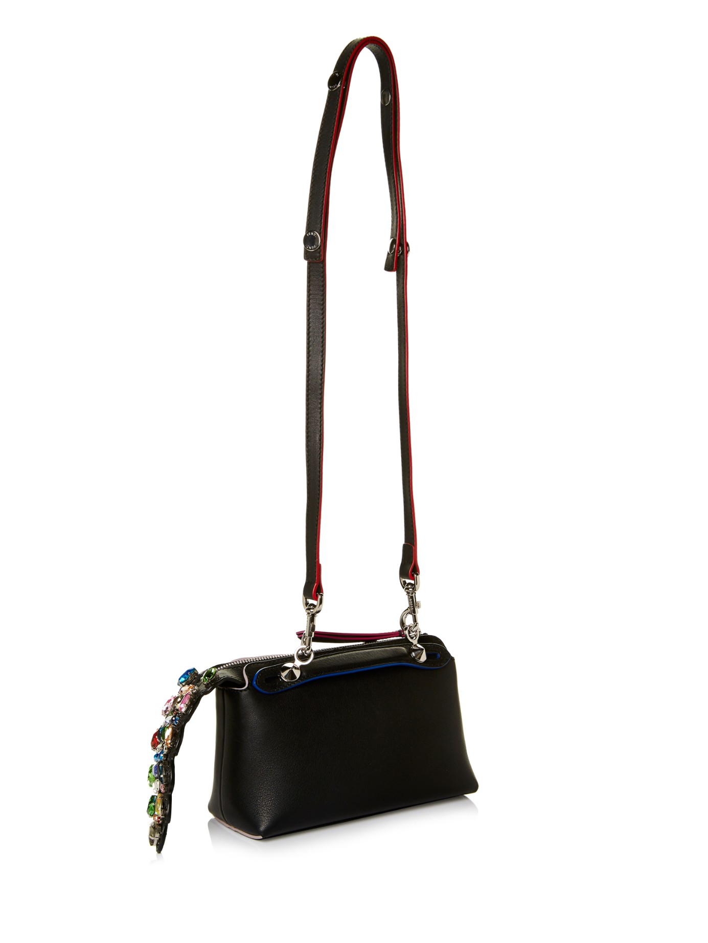 377224d677eb Lyst - Fendi By The Way Mini Crystal-tail Cross-body Bag in Black