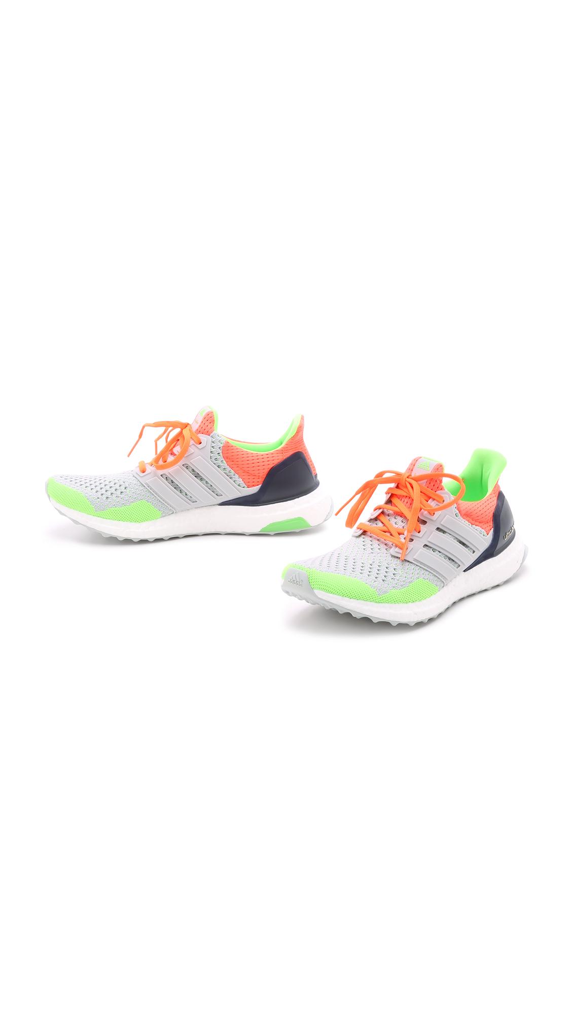 a7ea3c07c Lyst - adidas Ultra Boost Kolor Sneakers - Light Grey solar Orange ...