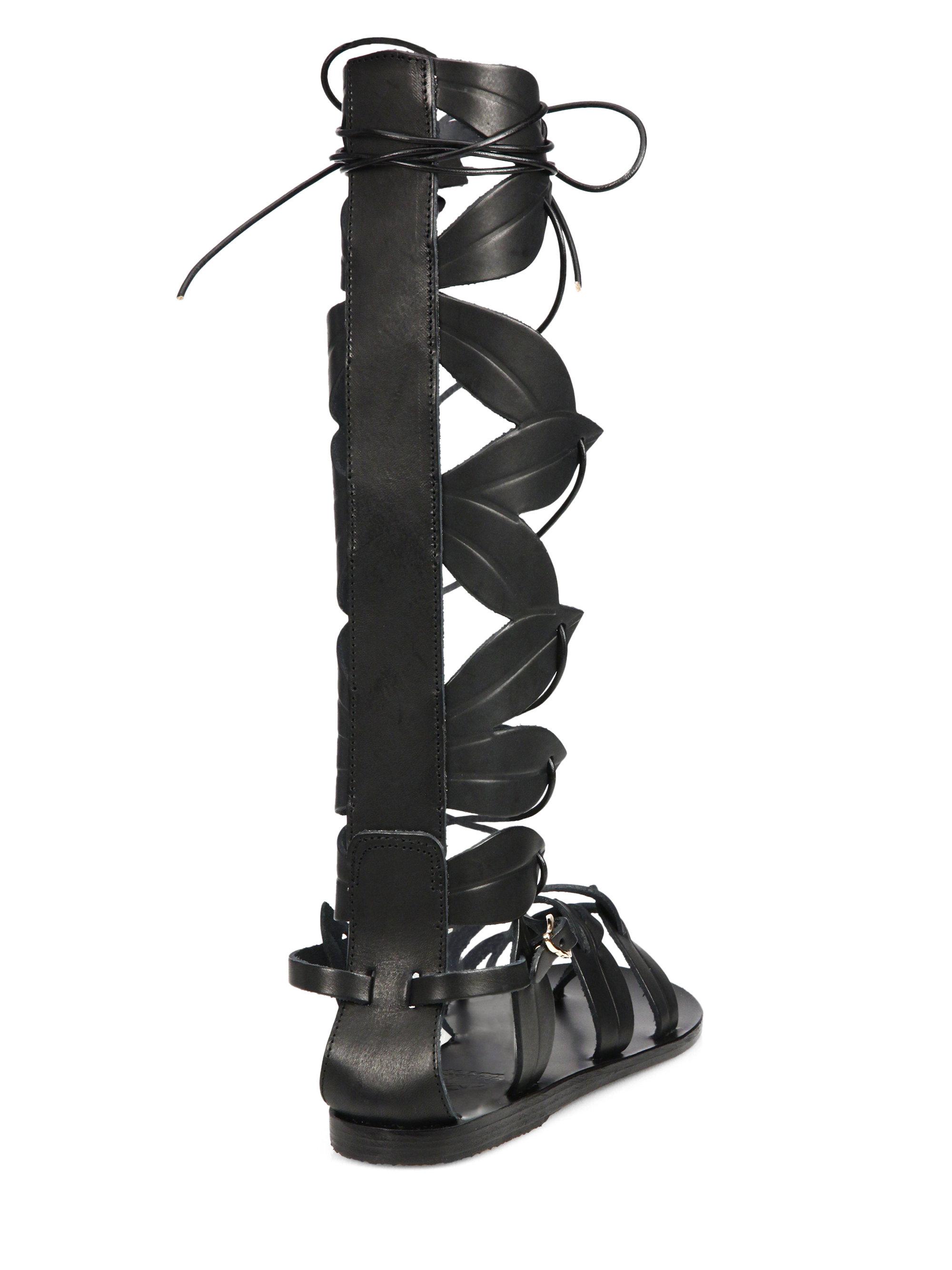 Ancient Greek Sandals Filareskia Knee High Lace Up