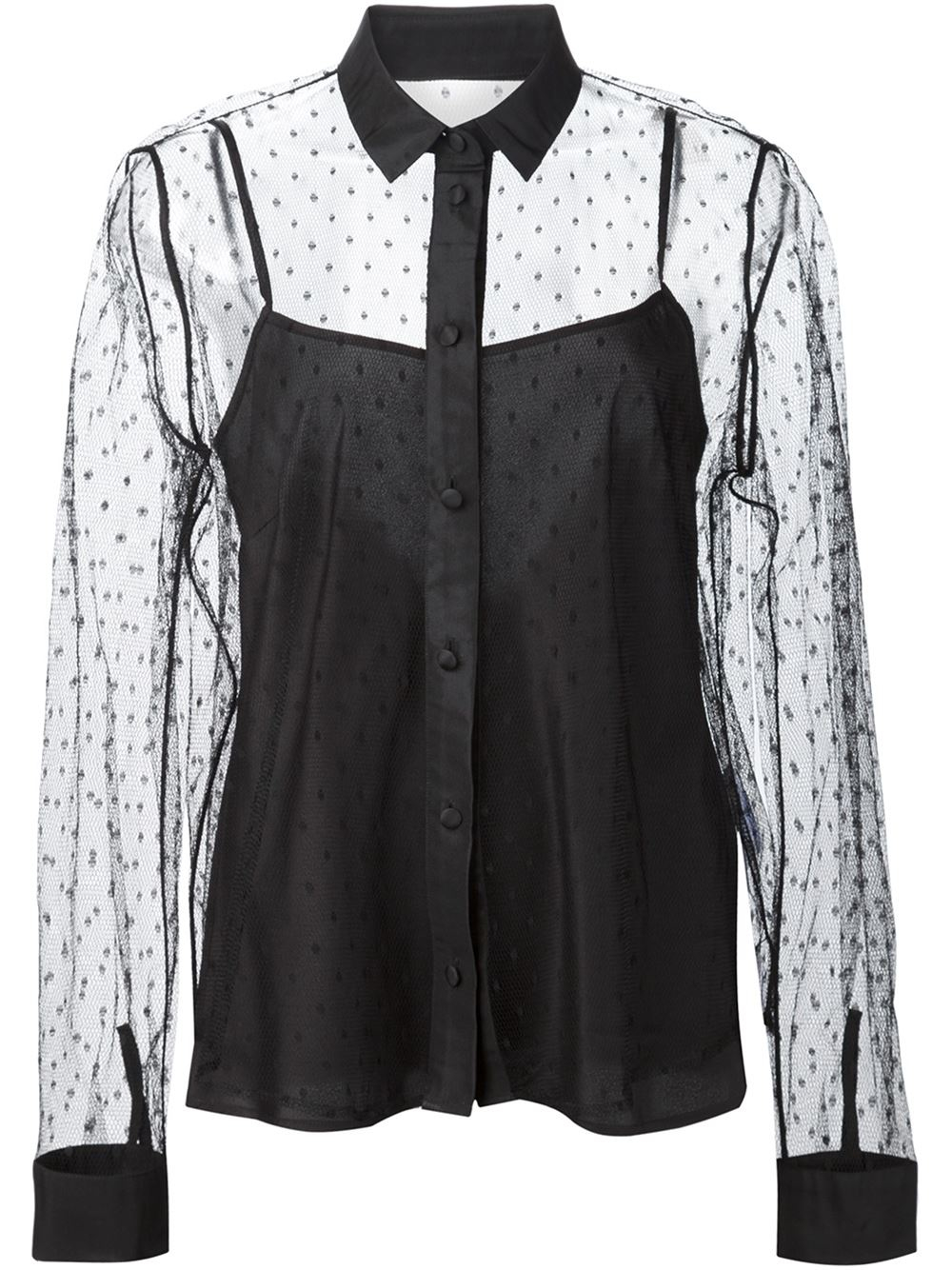 Zara Sheer Embroidered Blouse 119