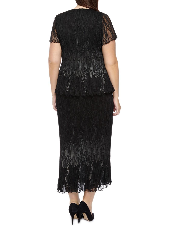 Windsmoor Crinkle Lace Skirt in Black