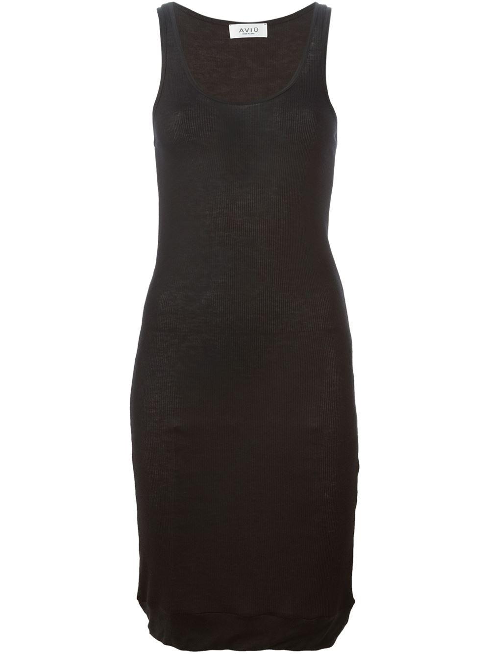 Lyst - Aviu Sleeveless Dress in Black